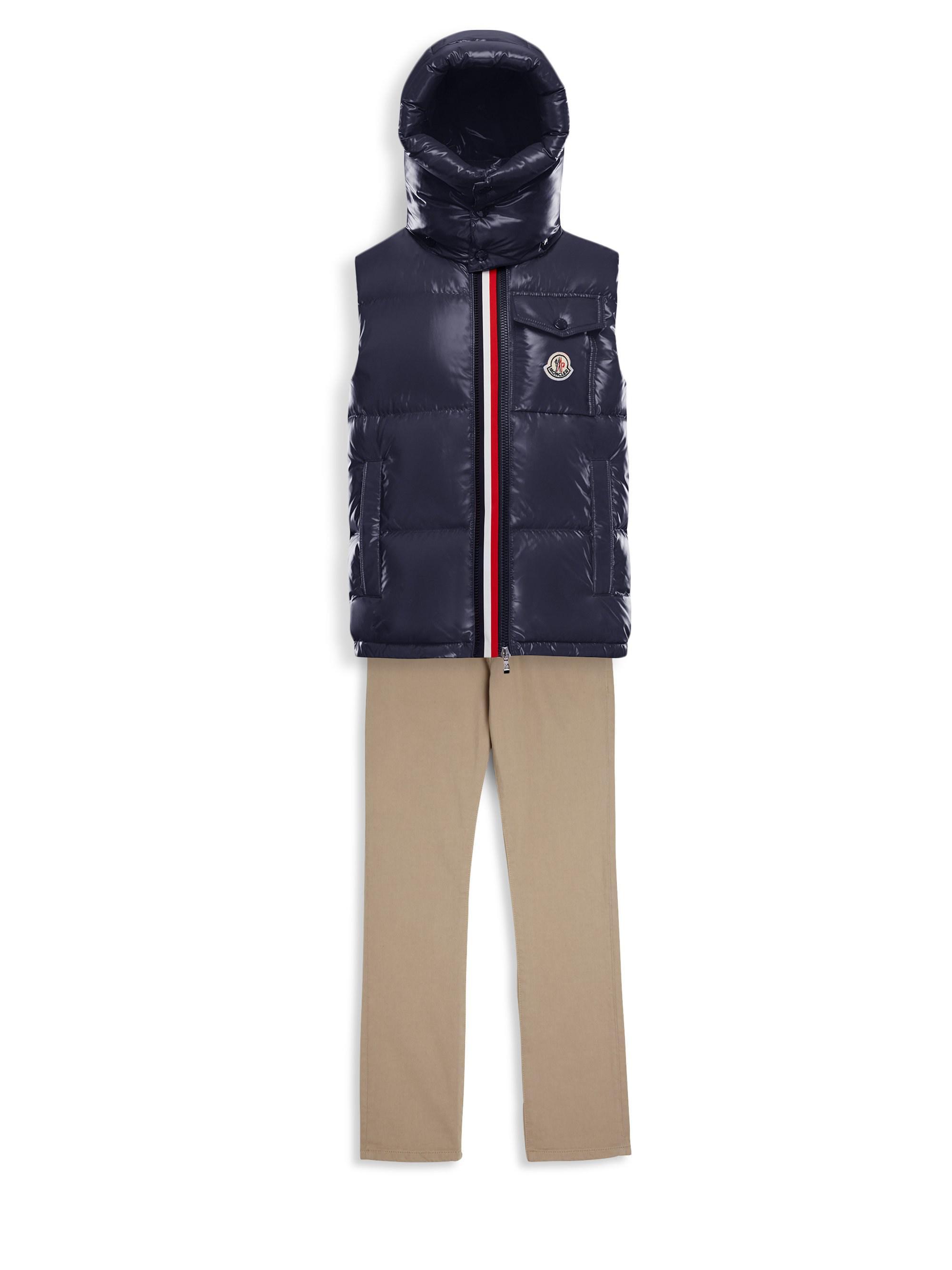 2dc80c1f5 Moncler Little Boy's & Boy's Givron Hooded Vest in Blue for Men - Lyst