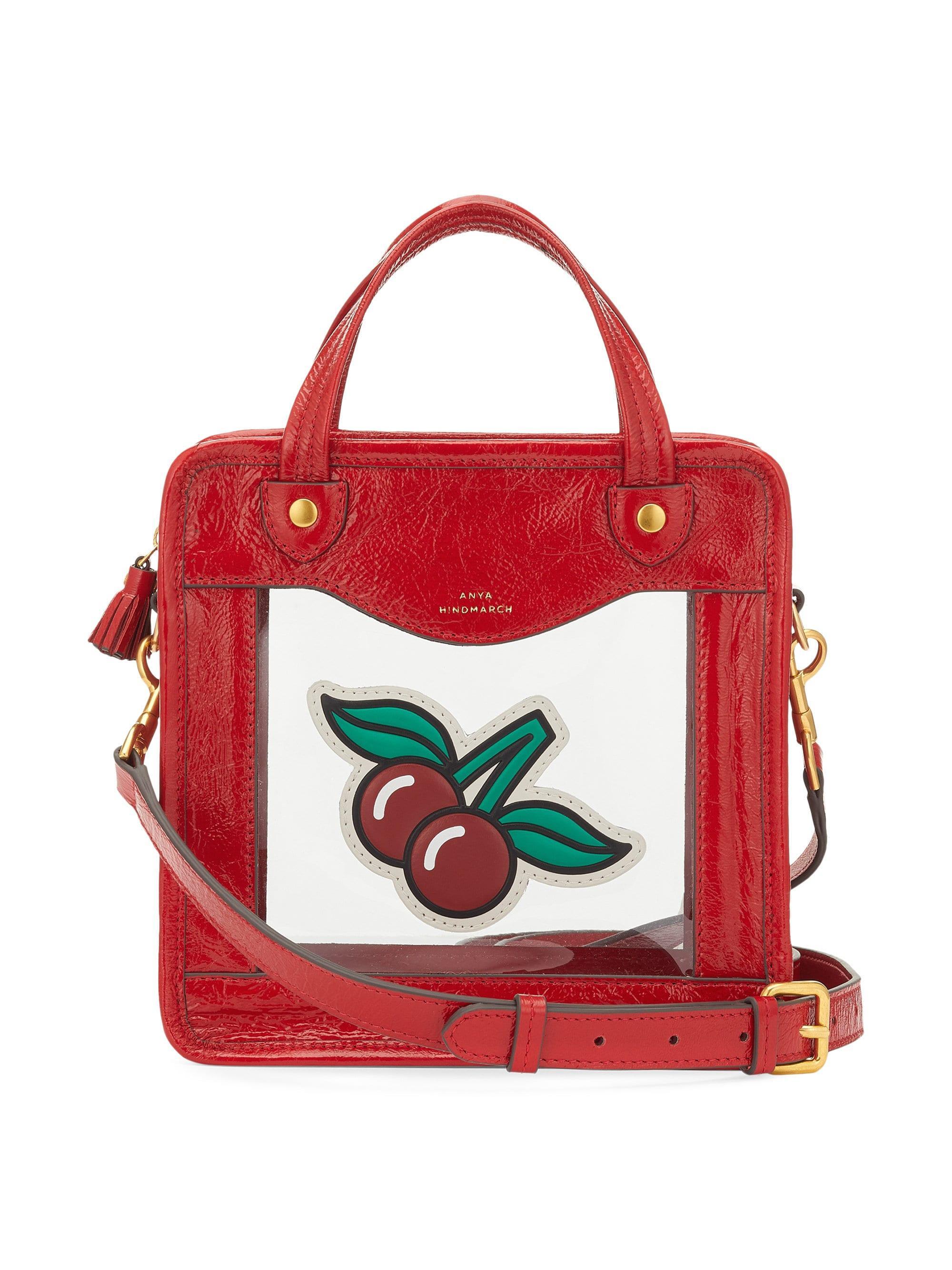 82fac445c13 Lyst - Anya Hindmarch Women s Rainy Day Cherry Crossbody Bag - Red ...