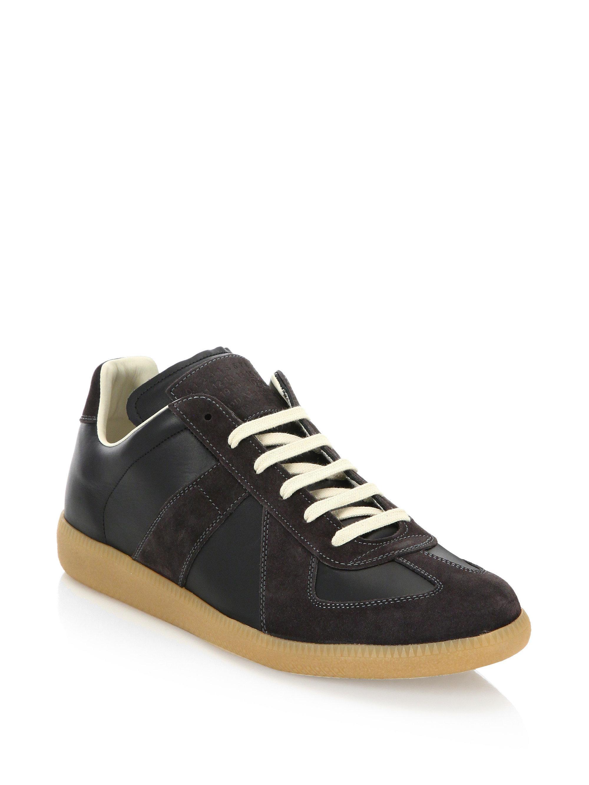 Maison Margiela Black & Brown Classic Mid Sneakers uzWCp8nu