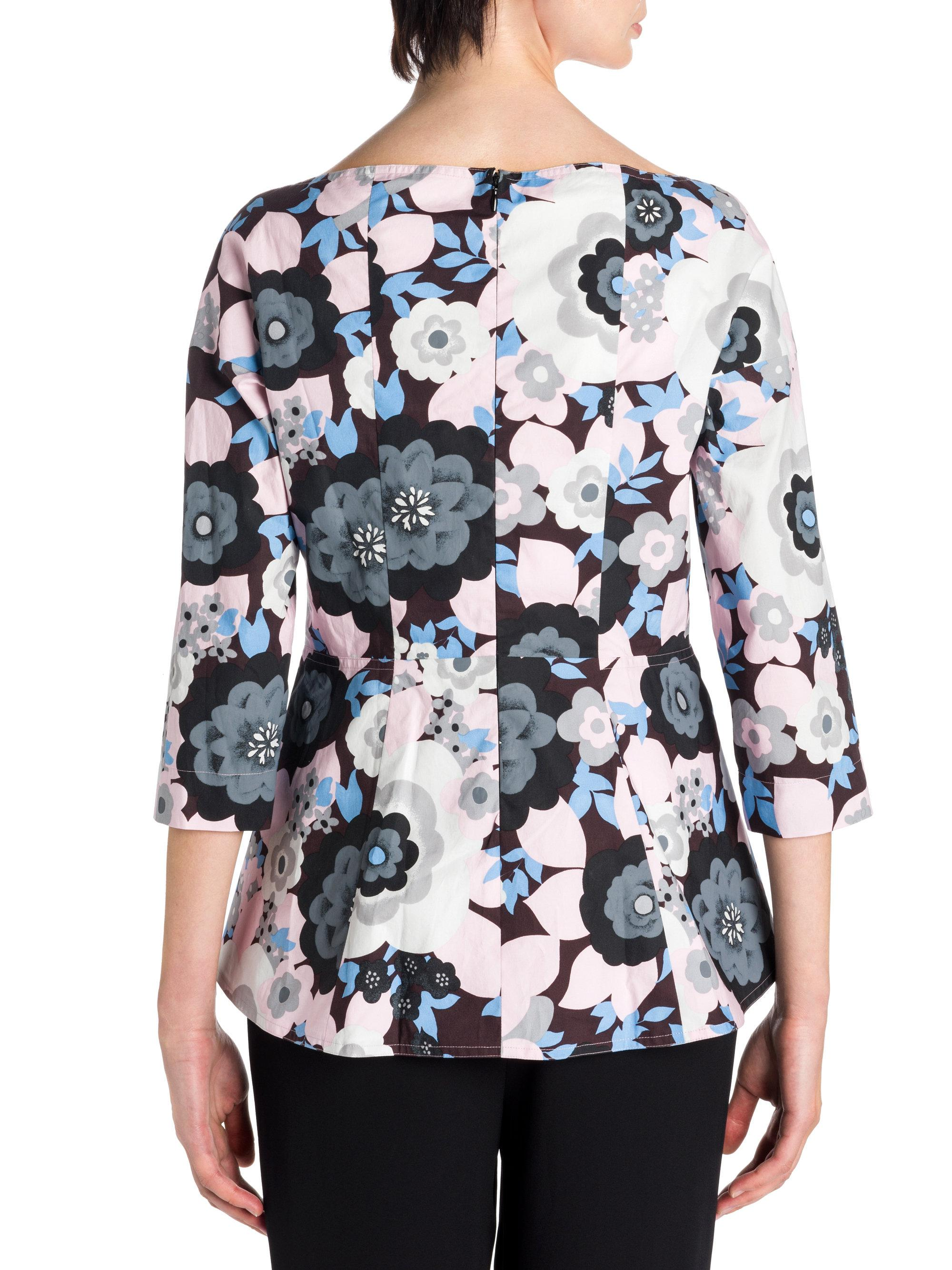 Cheapest Buy Cheap 2018 New floral print peplum top - Multicolour Marni Cheap Sale From China EKagCfSO