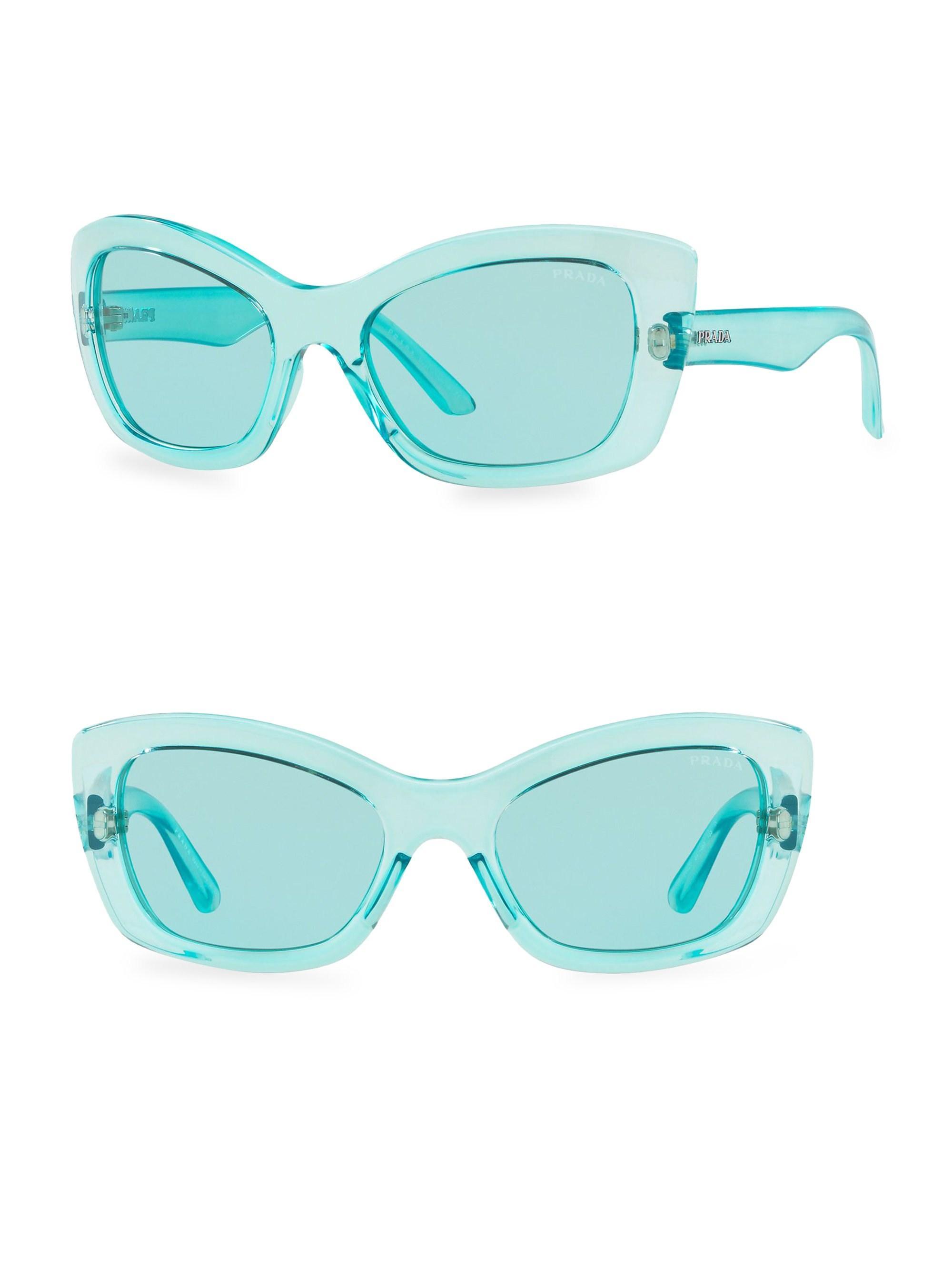 d3c1c5e440b1 Prada - Blue Women s Postcard 56mm Cat Eye Sunglasses - Azure - Lyst. View  fullscreen