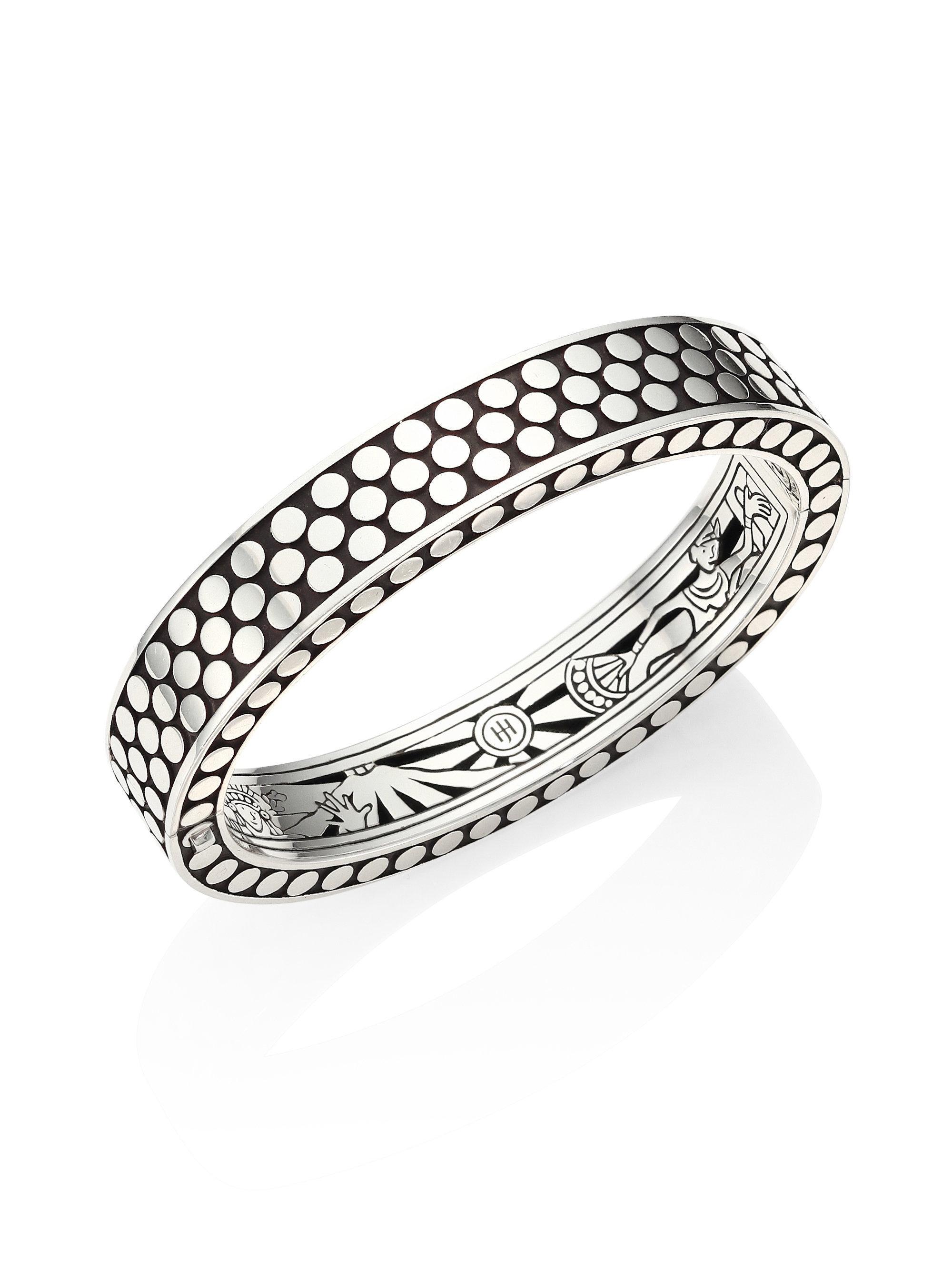 John Hardy Dot Medium Single Line Cuff Bracelet TpNXtl