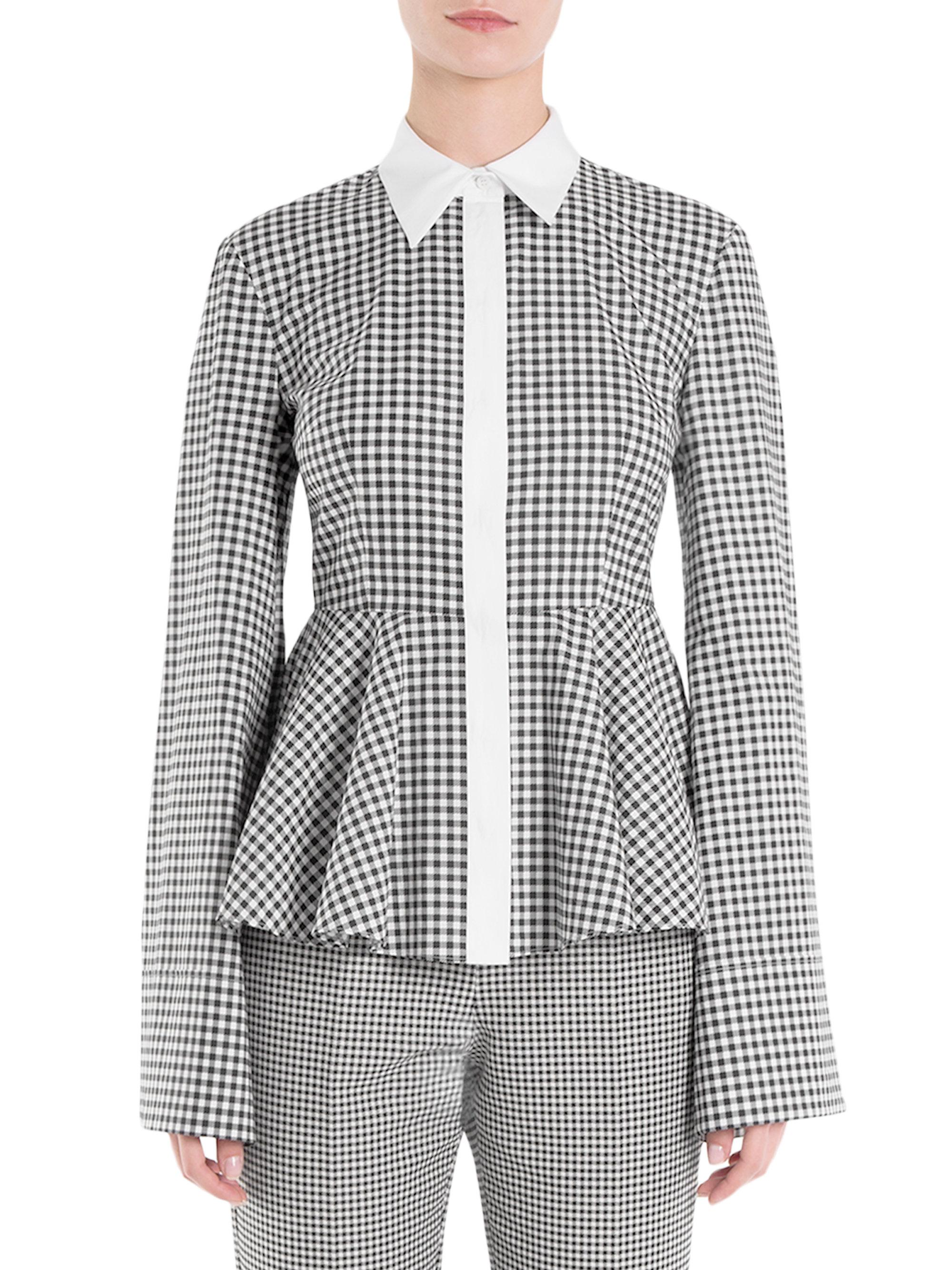 Sara Battaglia checked peplum shirt Shop For Outlet Limited Edition Marketable Wholesale Price Cheap Online Discount Manchester Great Sale rqiQ9C