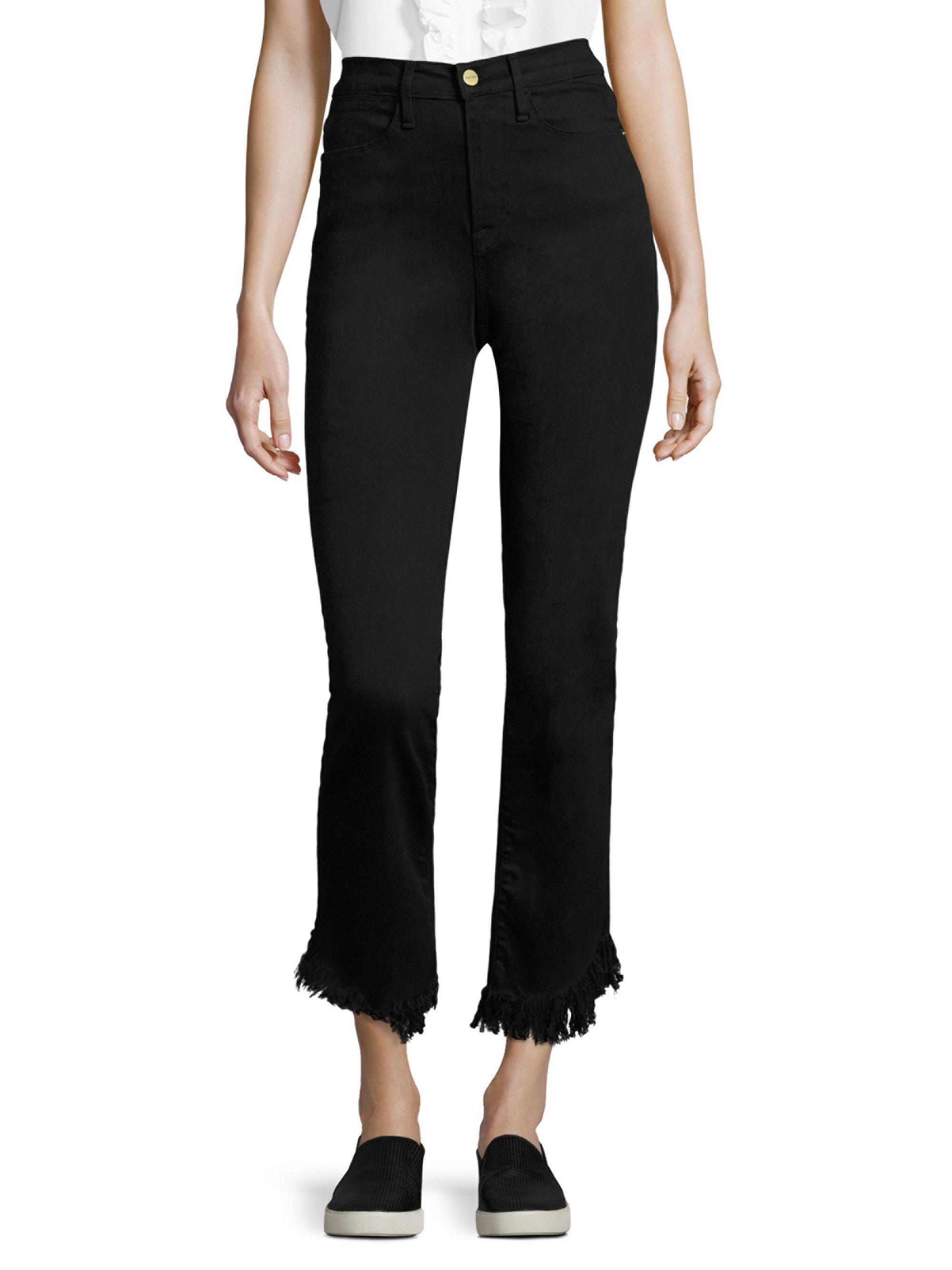 frayed straight-leg jeans - Black Frame Denim fy8ki