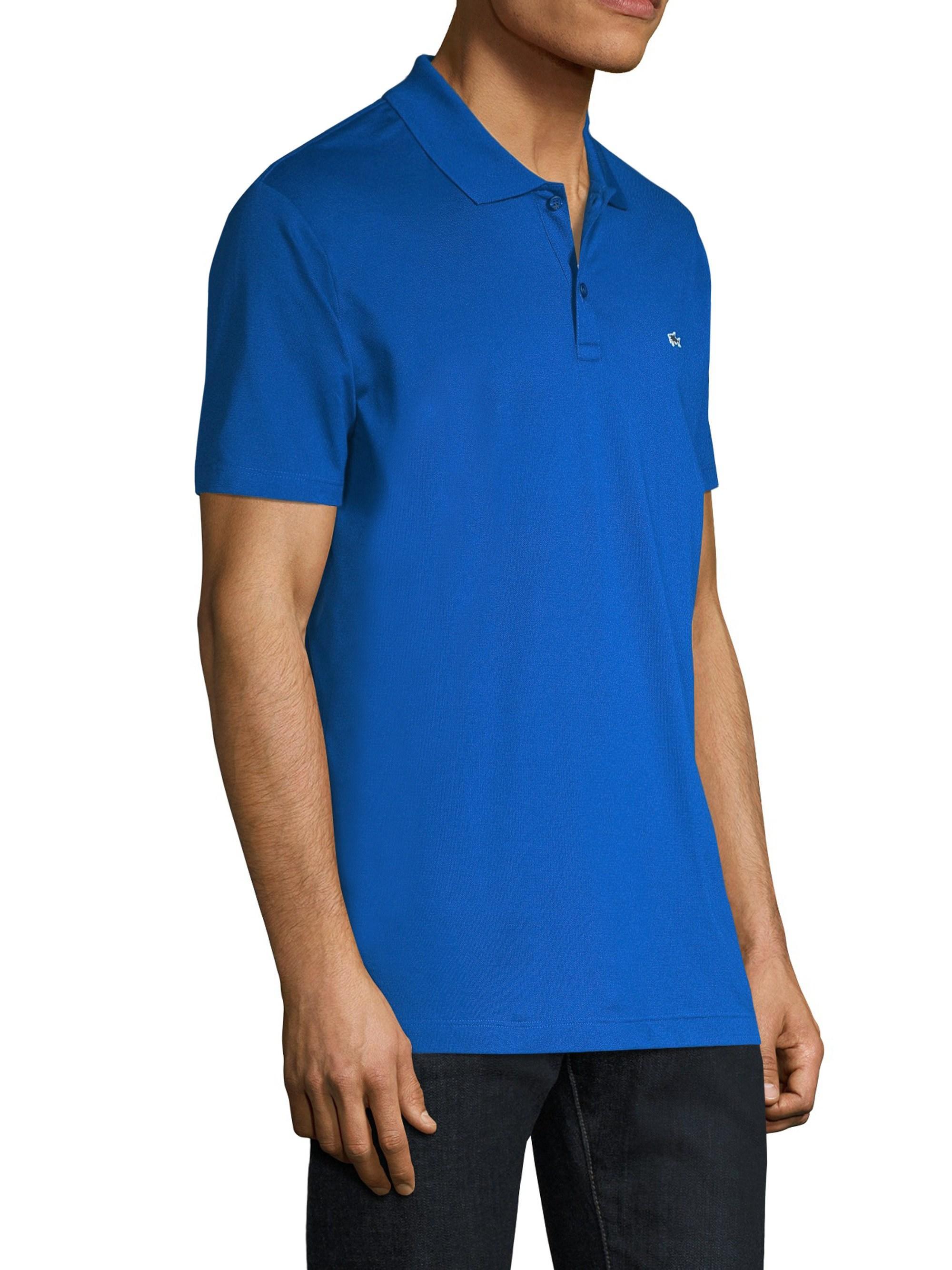 d09e6134 Lyst - Paul & Shark Men's Smart Knitted Polo Shirt - Cobalt Blue - Size  Large in Blue for Men
