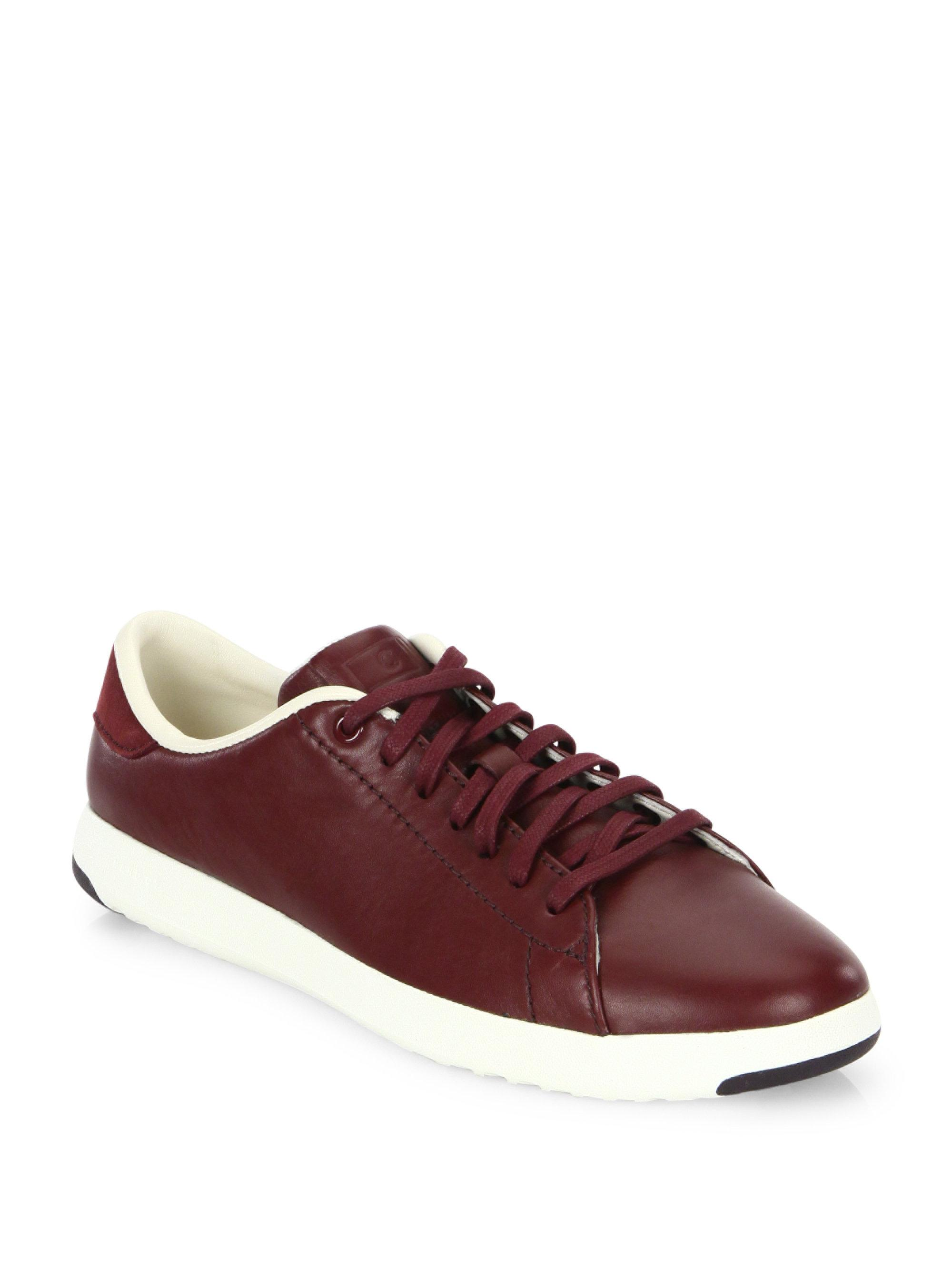 Cole Haan. Women's Grandpro Leather Tennis Trainers