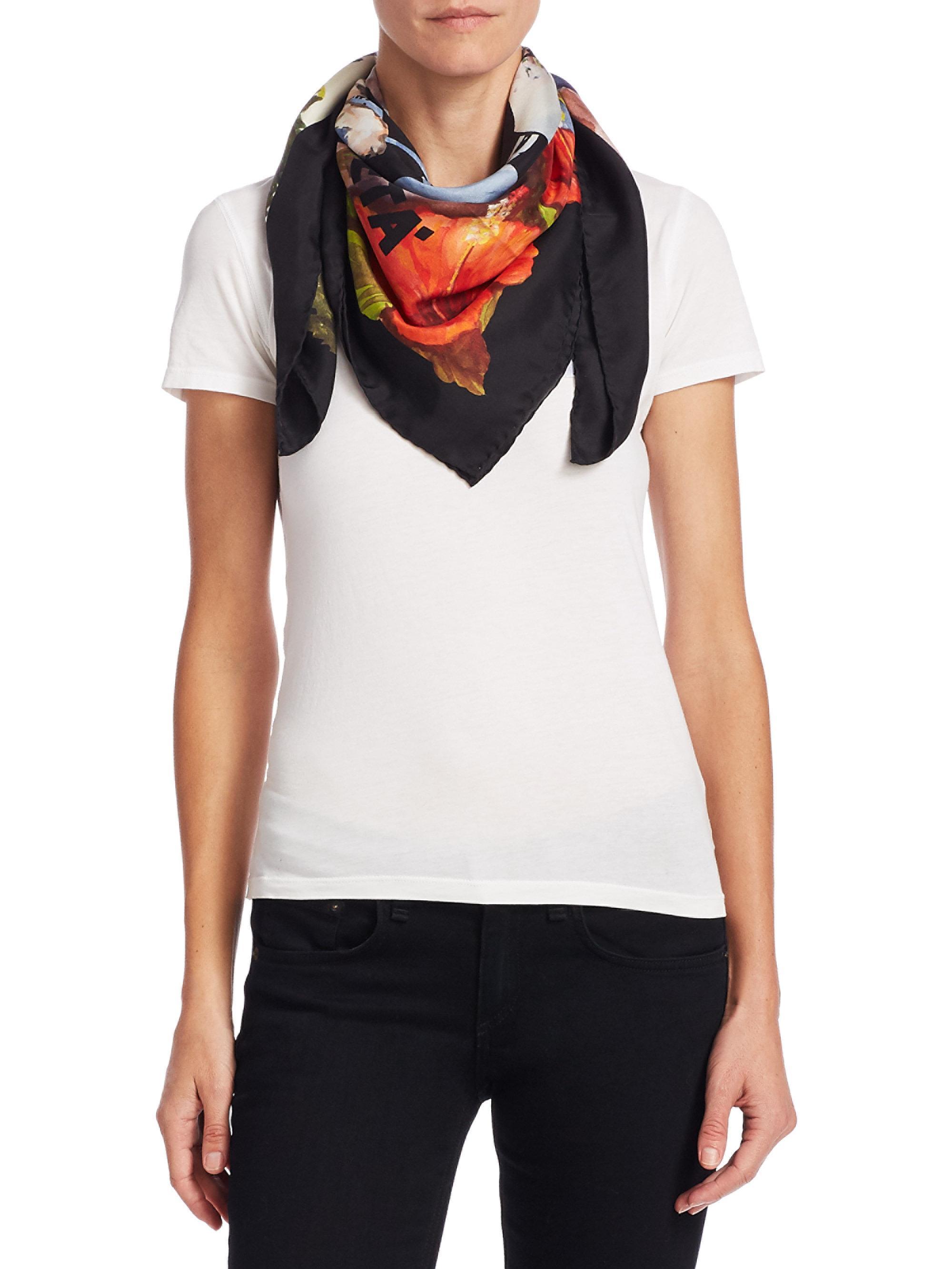 Guccify Yourself print silk scarf - Black Gucci 97Dipq