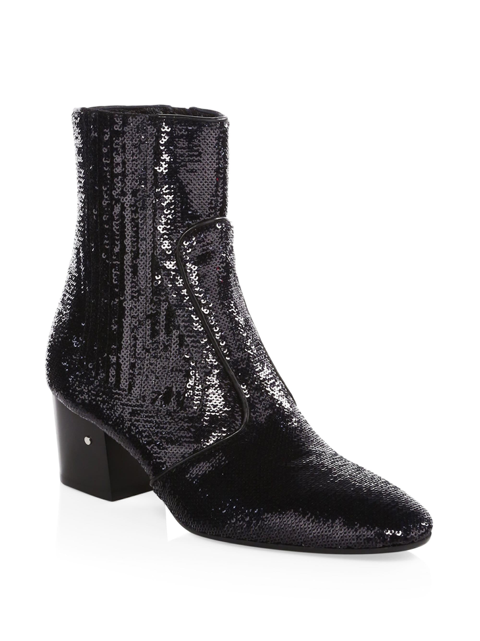7e14b22a30a laurence-dacade-black-Womens-Ringo-Sequin-Booties-Black-Size-35-5.jpeg