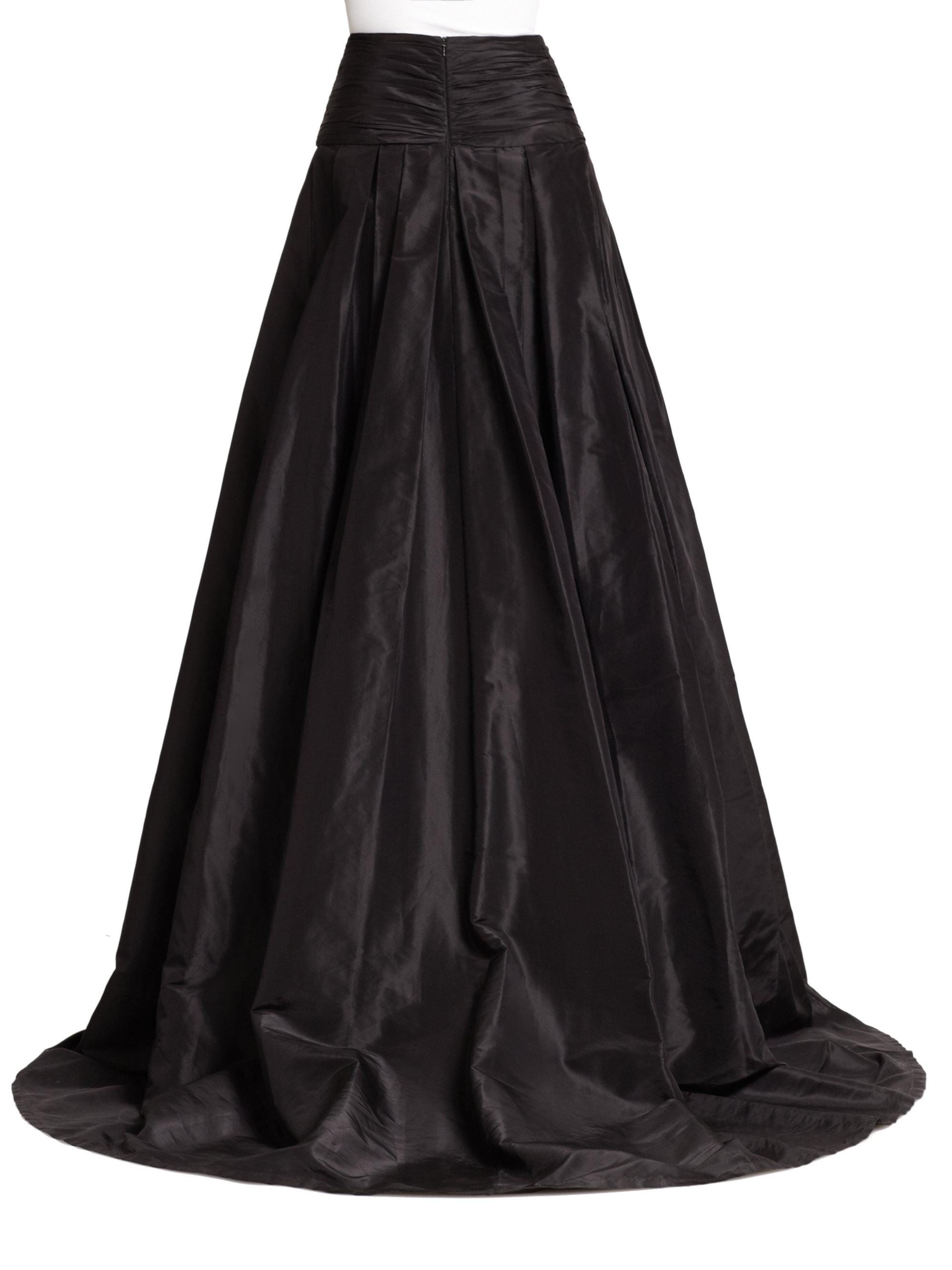 Lyst - Carolina Herrera Icon Collection Silk Cummerbund Ball Gown ...