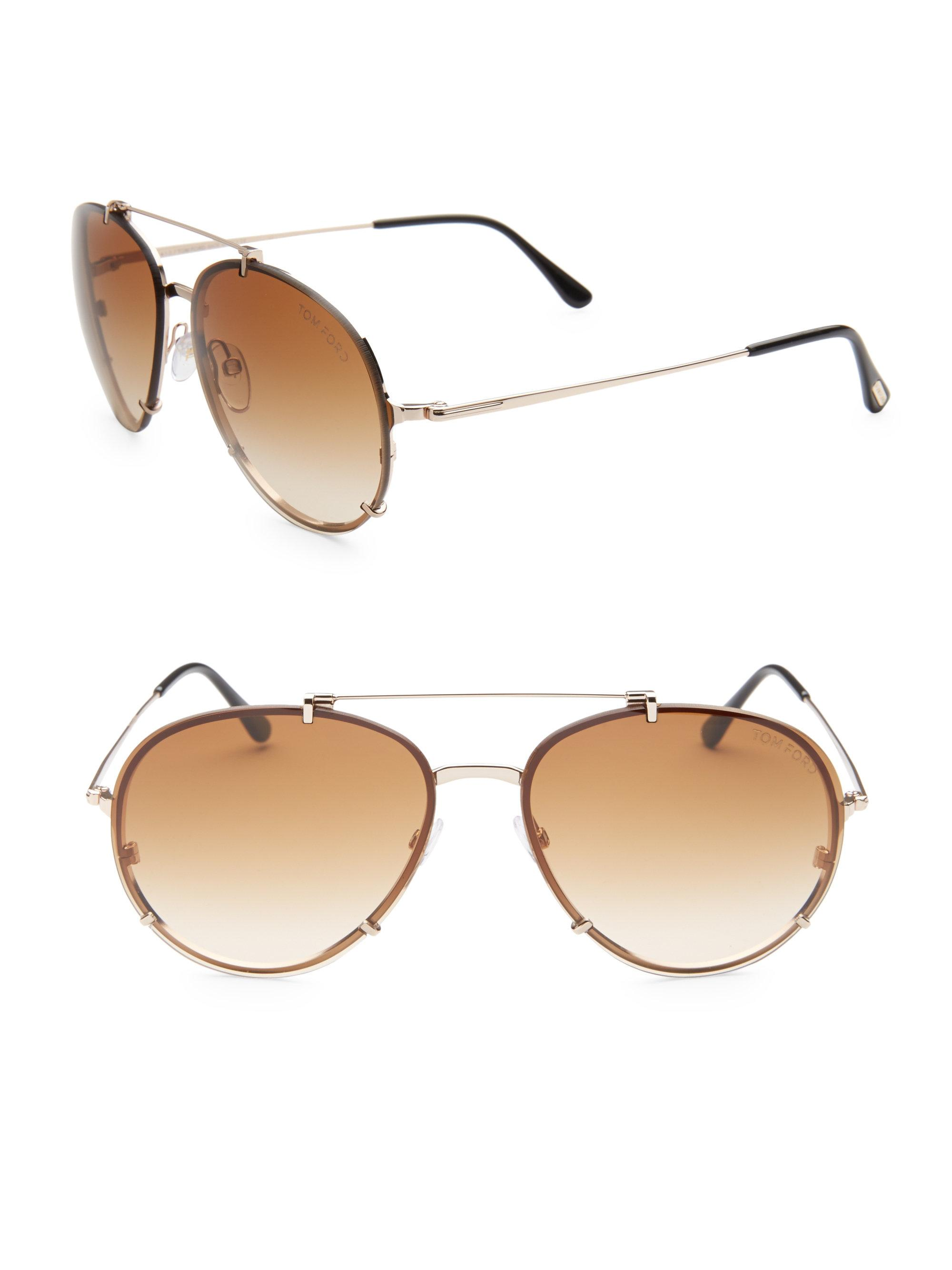 a18853b99a Tom Ford Dickon Aviator Sunglasses in Natural for Men - Lyst