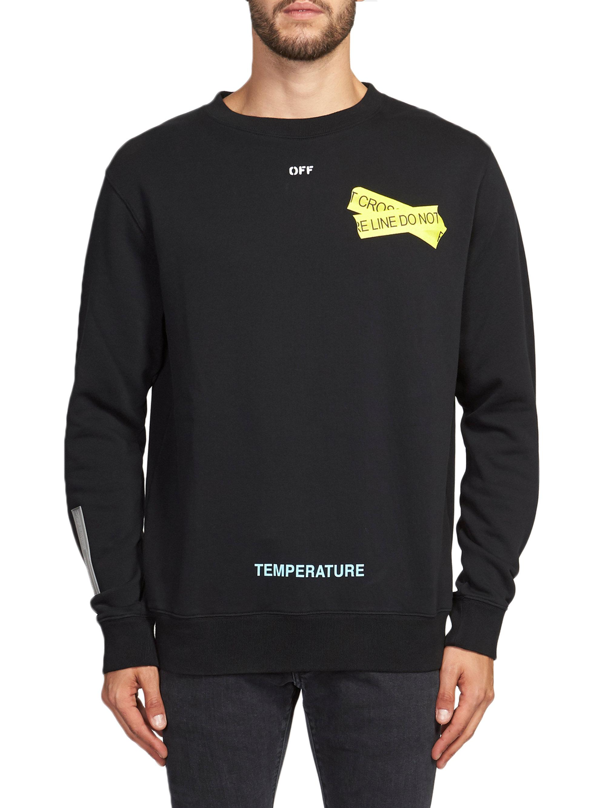 1f02041ee5dc Lyst - Off-White c o Virgil Abloh Fire Tape Graphic Pullover in ...