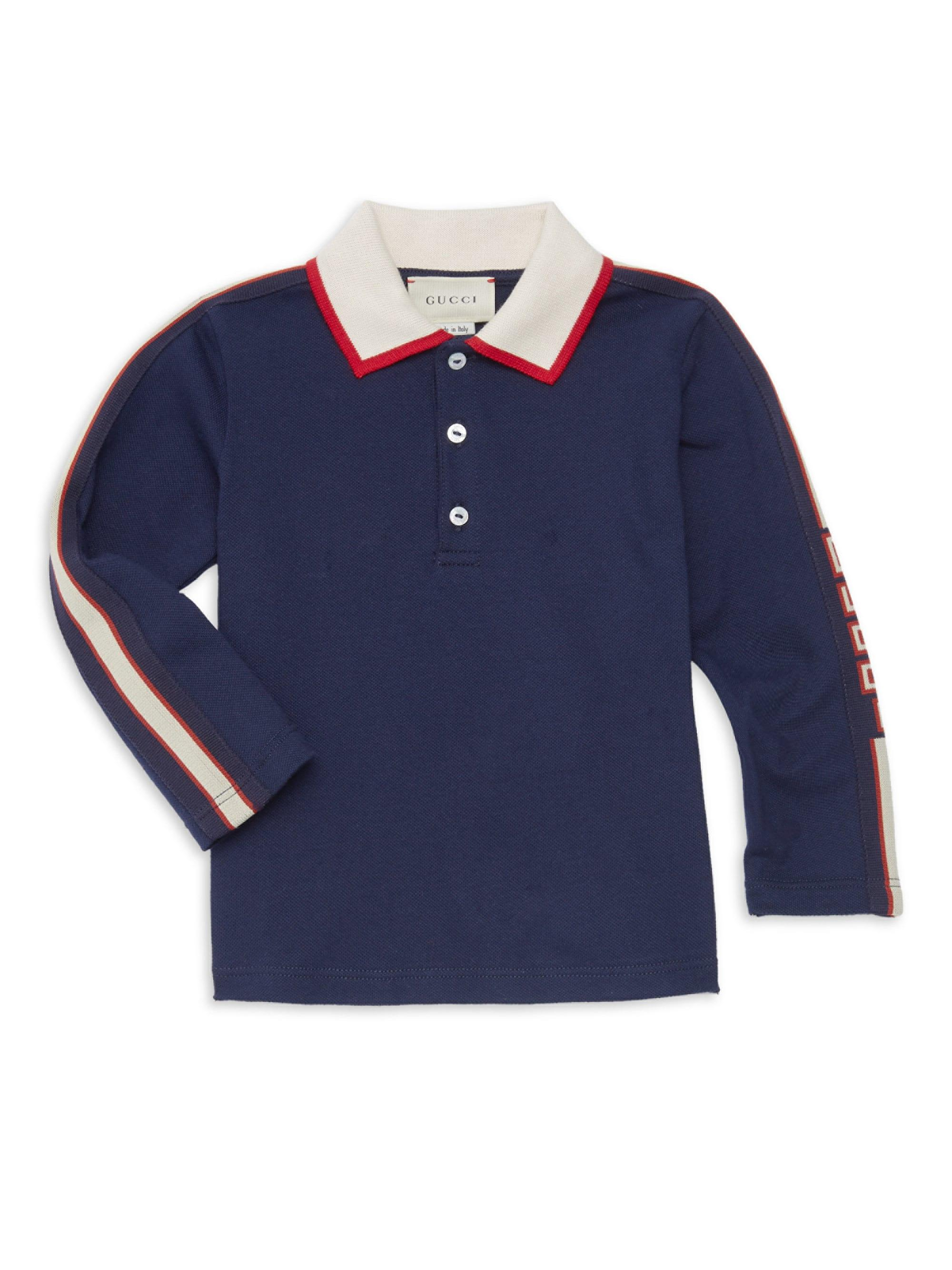 9888cb1de4b5 Gucci Baby Boy's Collared Long-sleeve Shirt in Blue for Men - Lyst