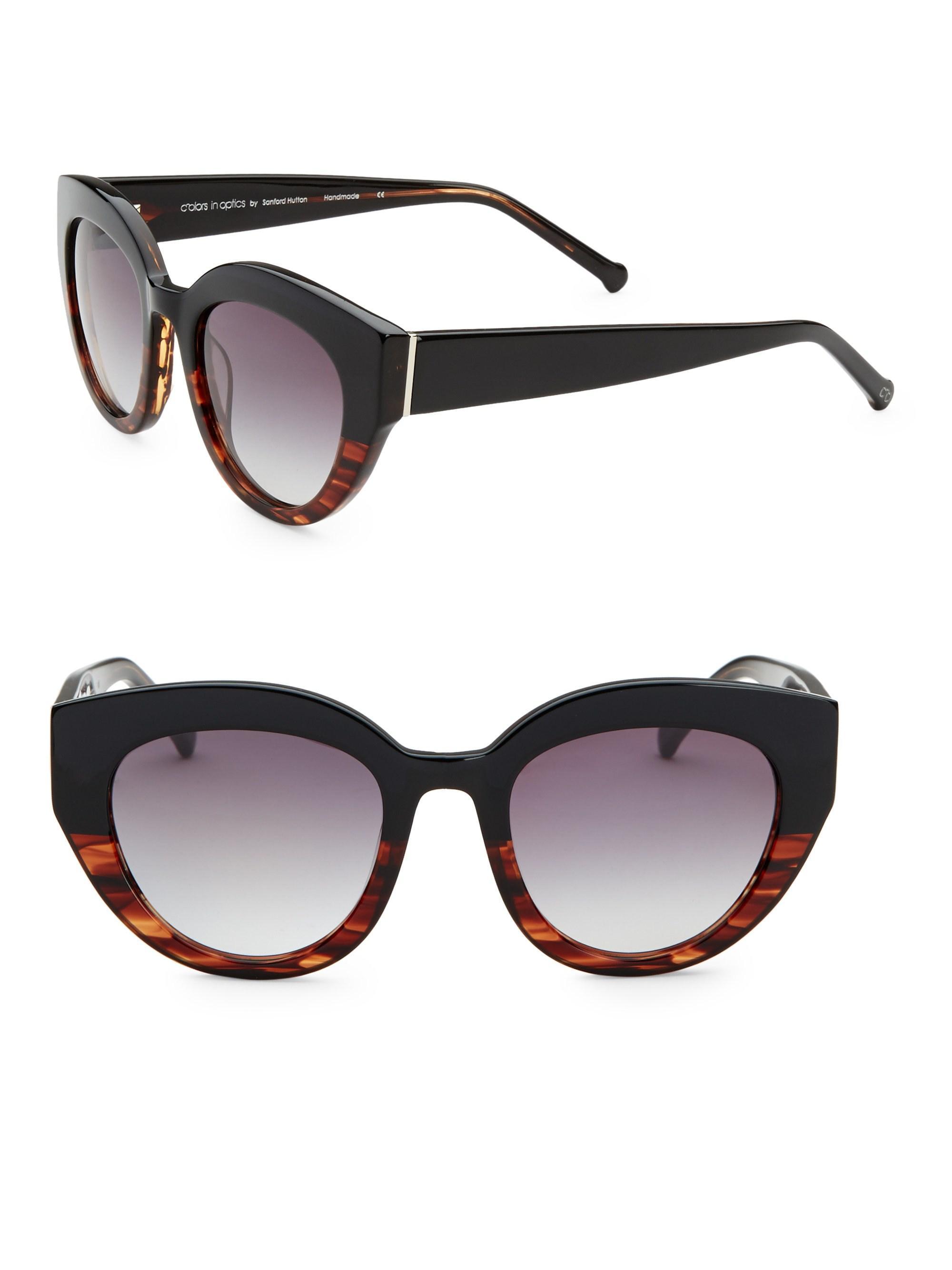 4966bb08486 Lyst - Colors In Optics Women s Carnavale Thick Plastic Cat Eye ...