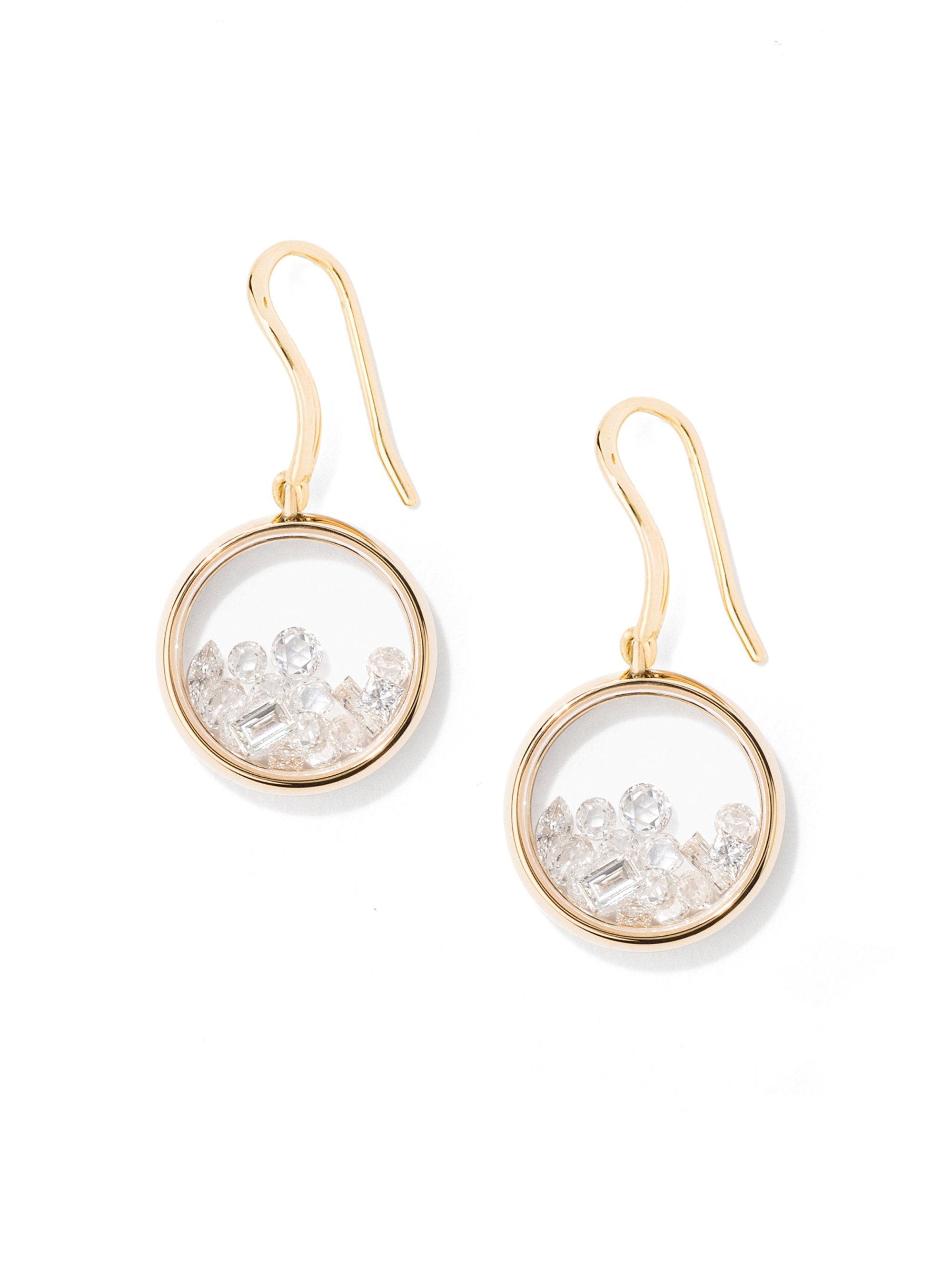 Aurélie Bidermann Chivor 18kt gold & diamond earrings ETXhO2o6j