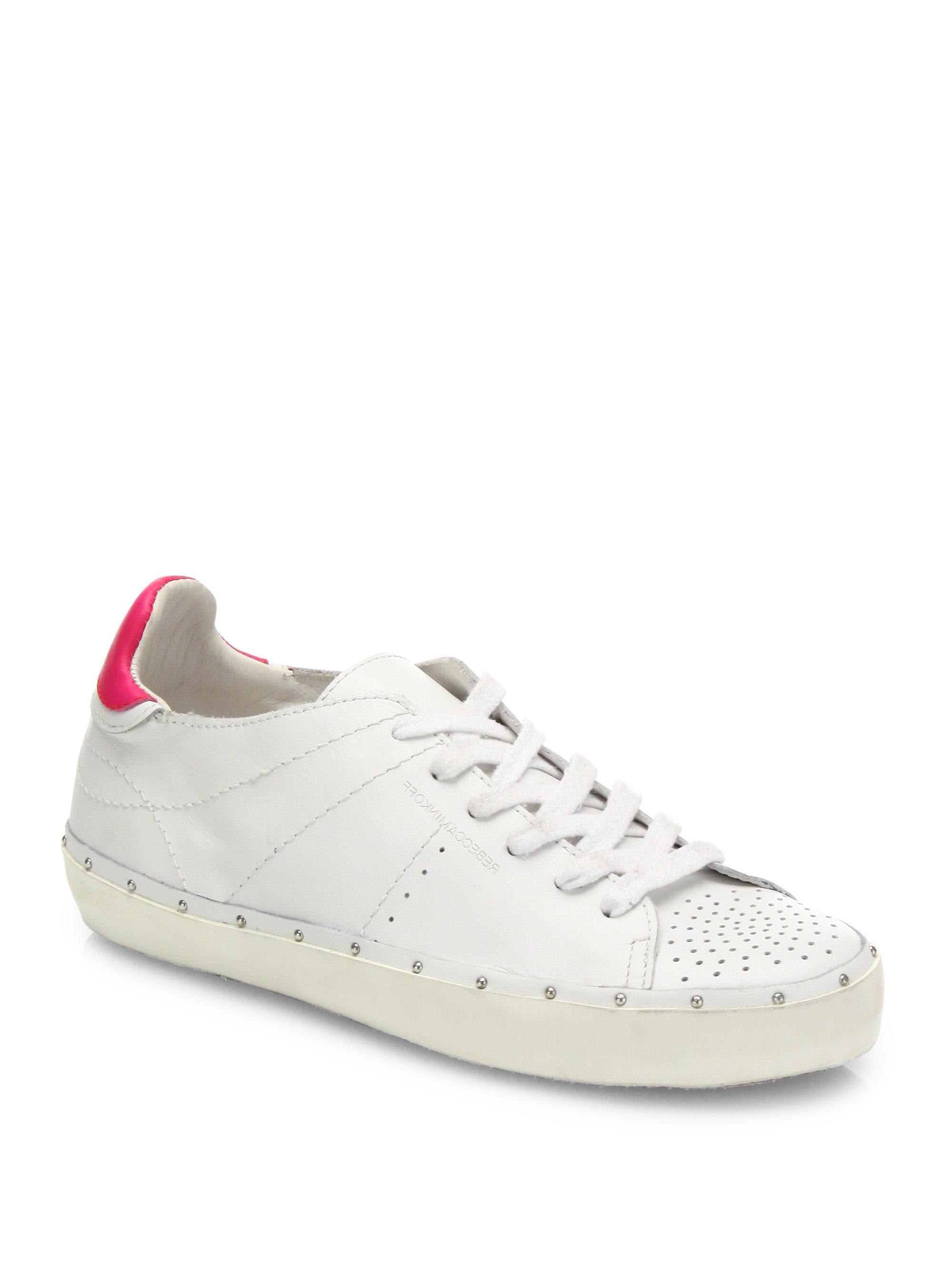Lyst - Rebecca Minkoff Michell Leather Sneakers in White d653e0254d5