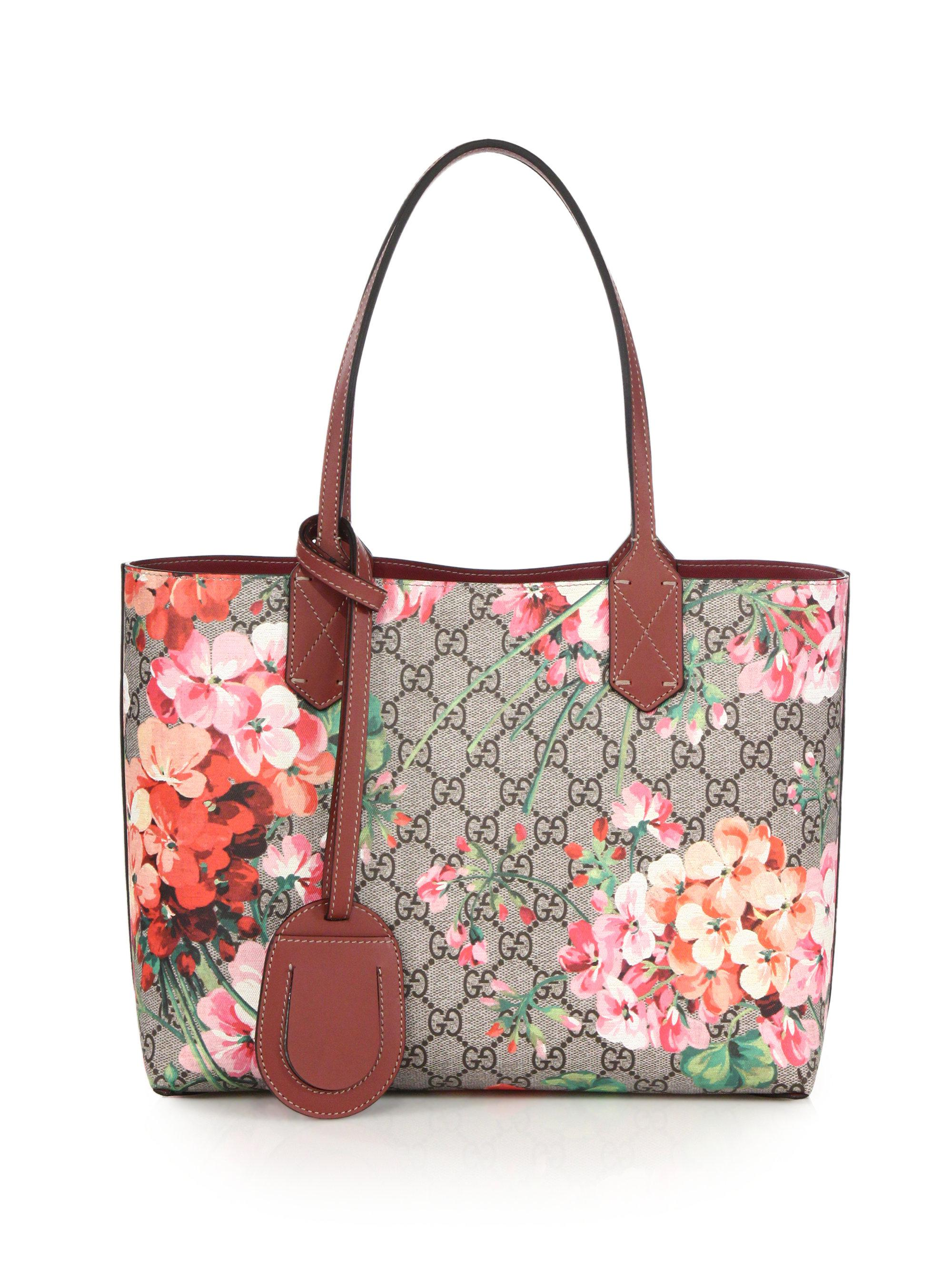 6705f9d97c6d Gucci Gg Blooms Small Reversible Tote in Pink - Lyst