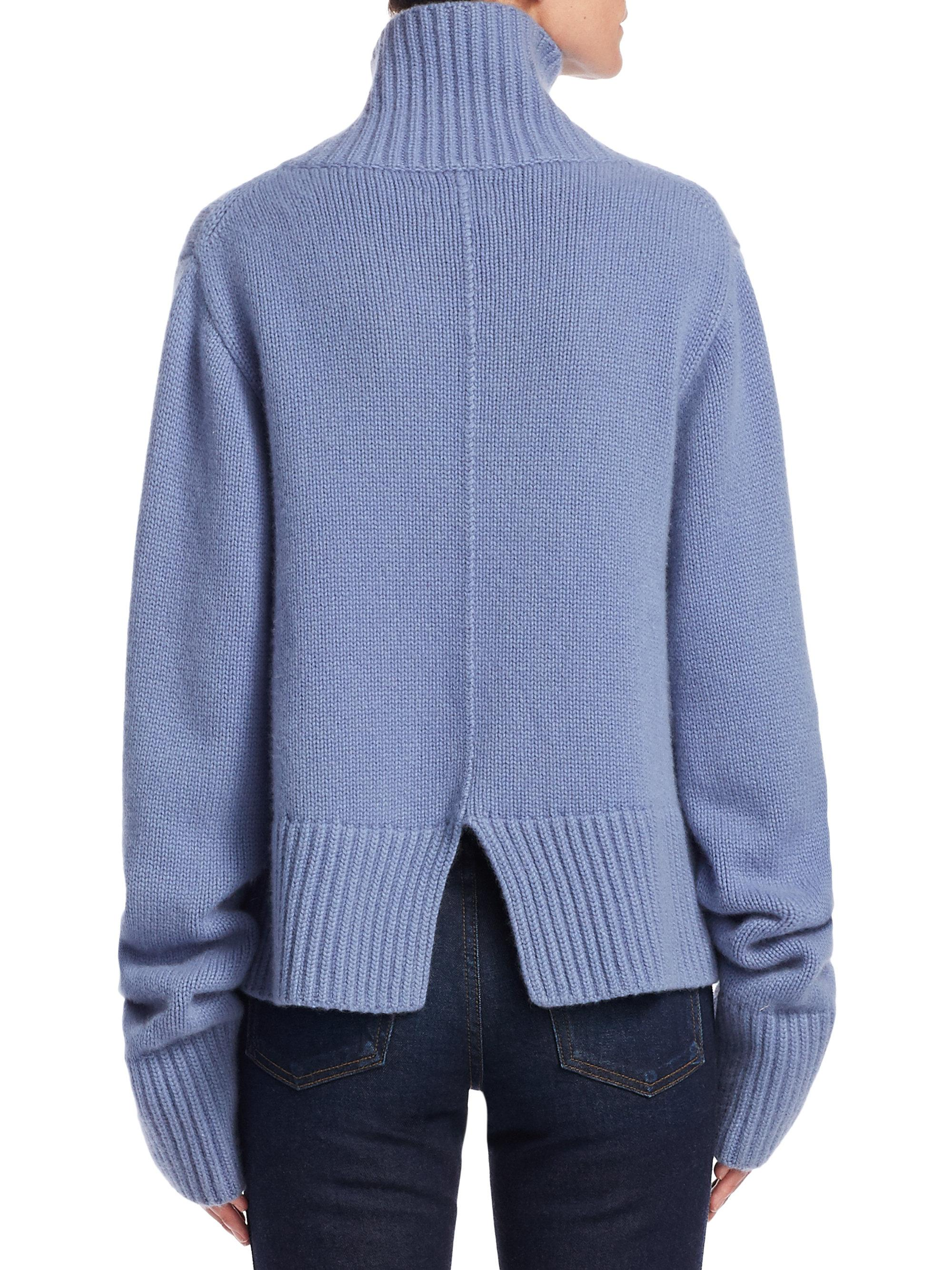Khaite Wallis Cashmere Turtleneck Sweater in Blue | Lyst