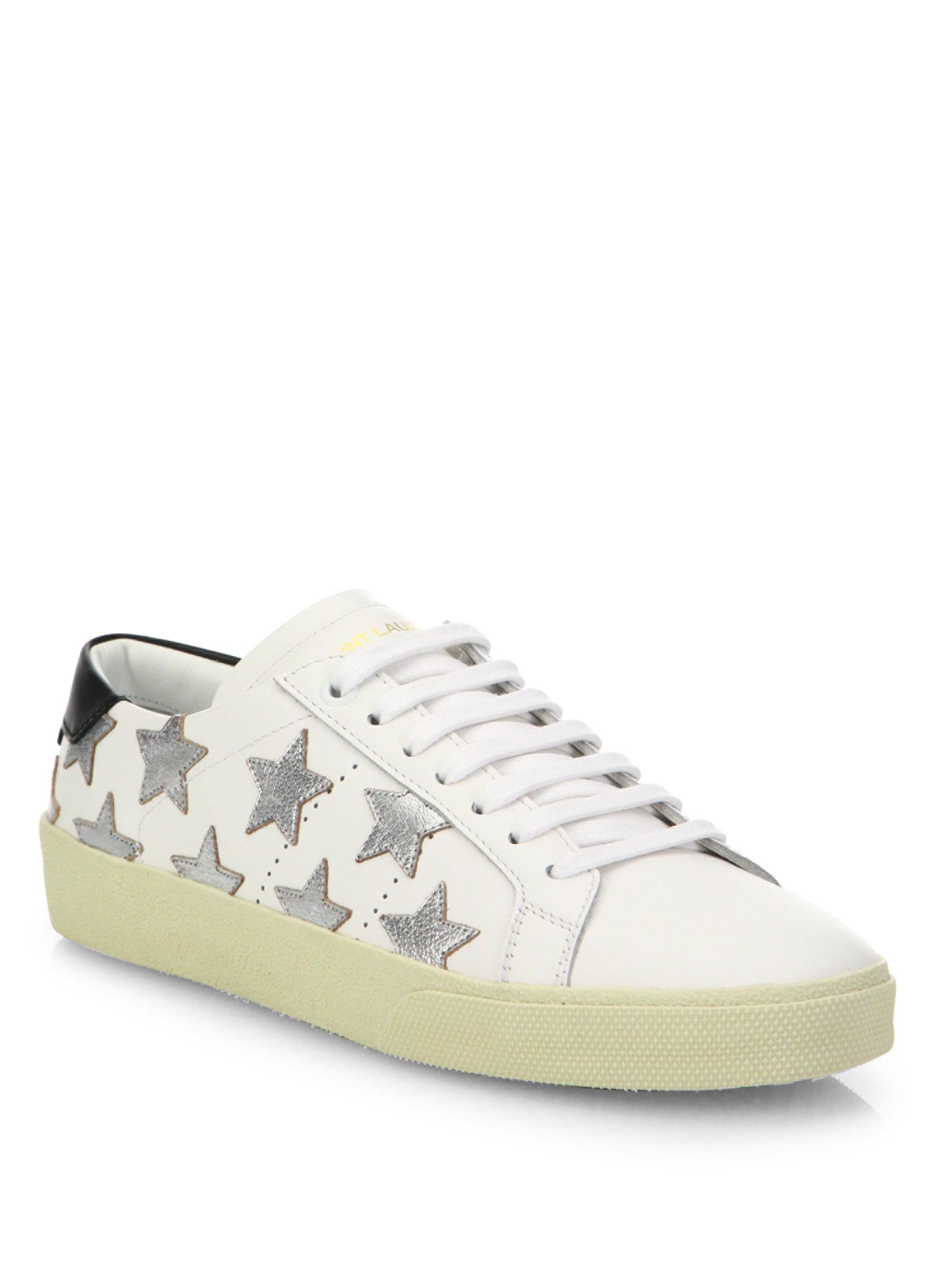 Isabel Marant White & Silver Court Classic California Sneakers ACIzwC