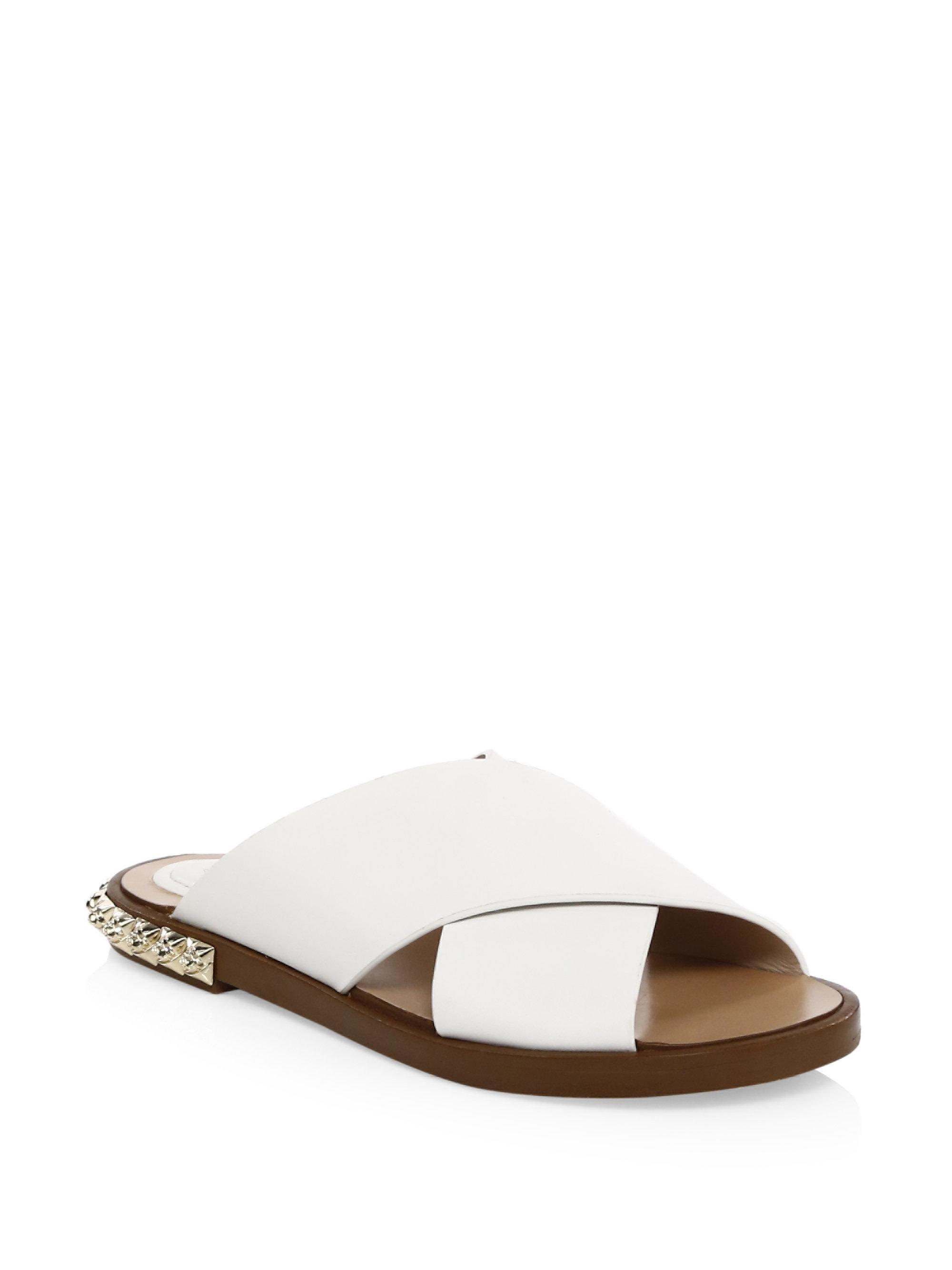 Stuart Weitzman Land Decor Leather Slides uECu0lu