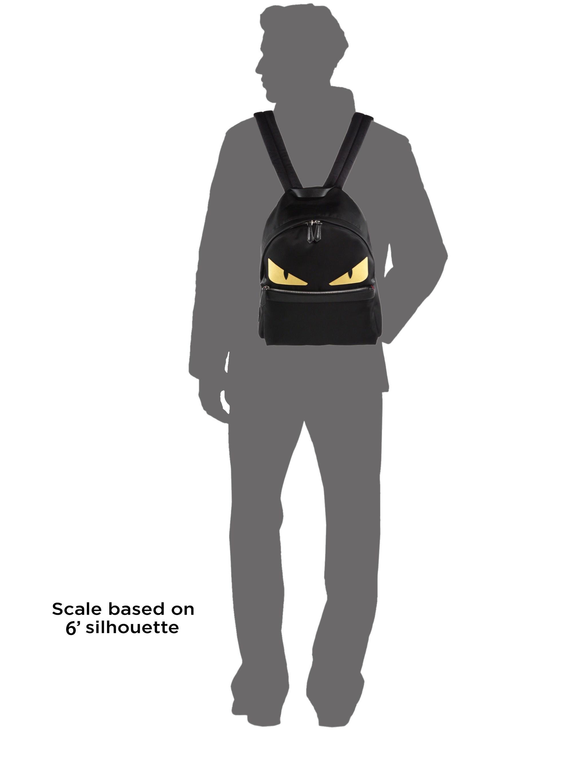 7b4911dac557 Fendi Men s Nylon Monster Backpack - Black in Black for Men - Lyst