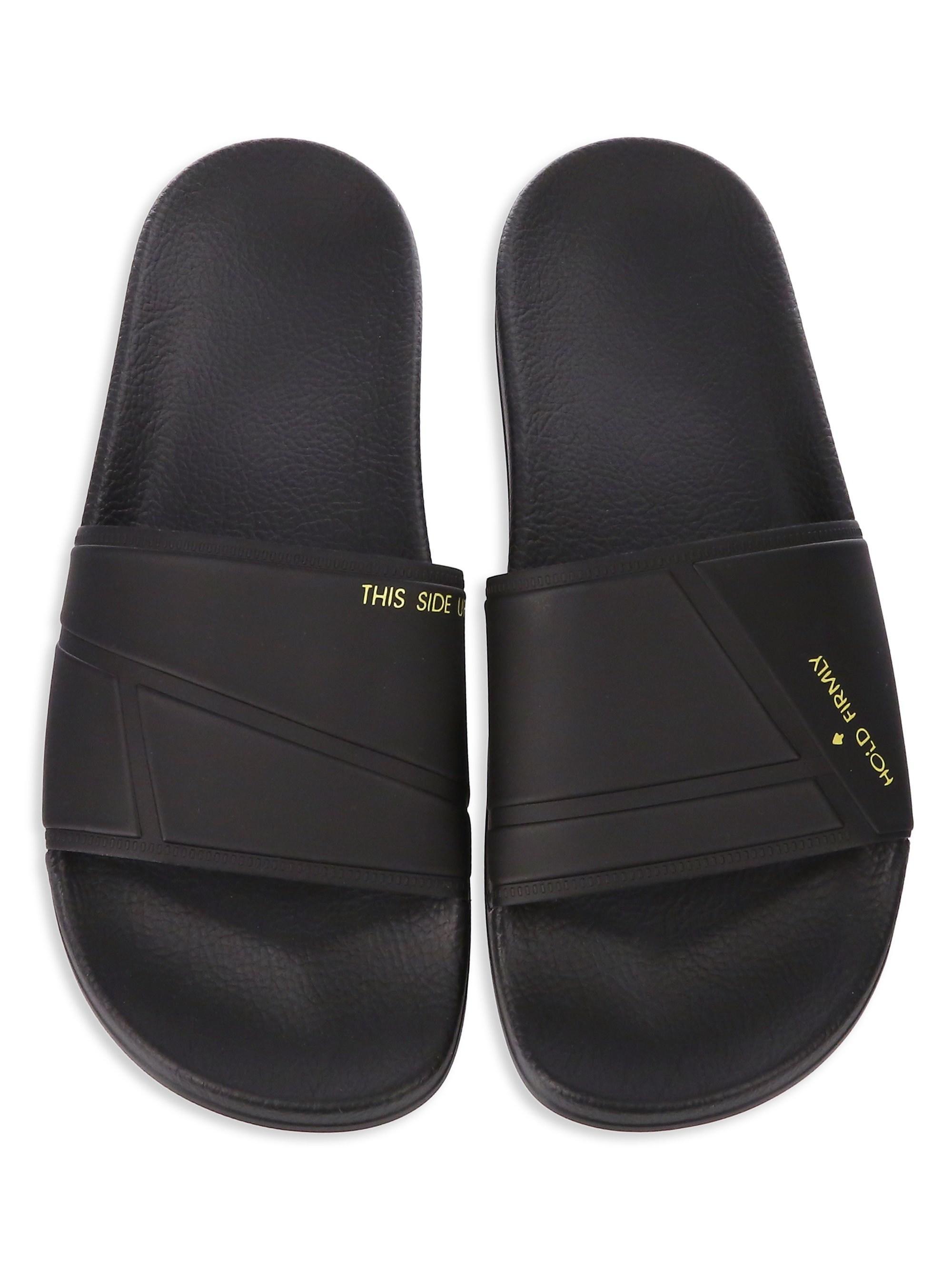 deea5571297fc3 Lyst - adidas By Raf Simons Raf Adilette Rubber Slides in Black for Men