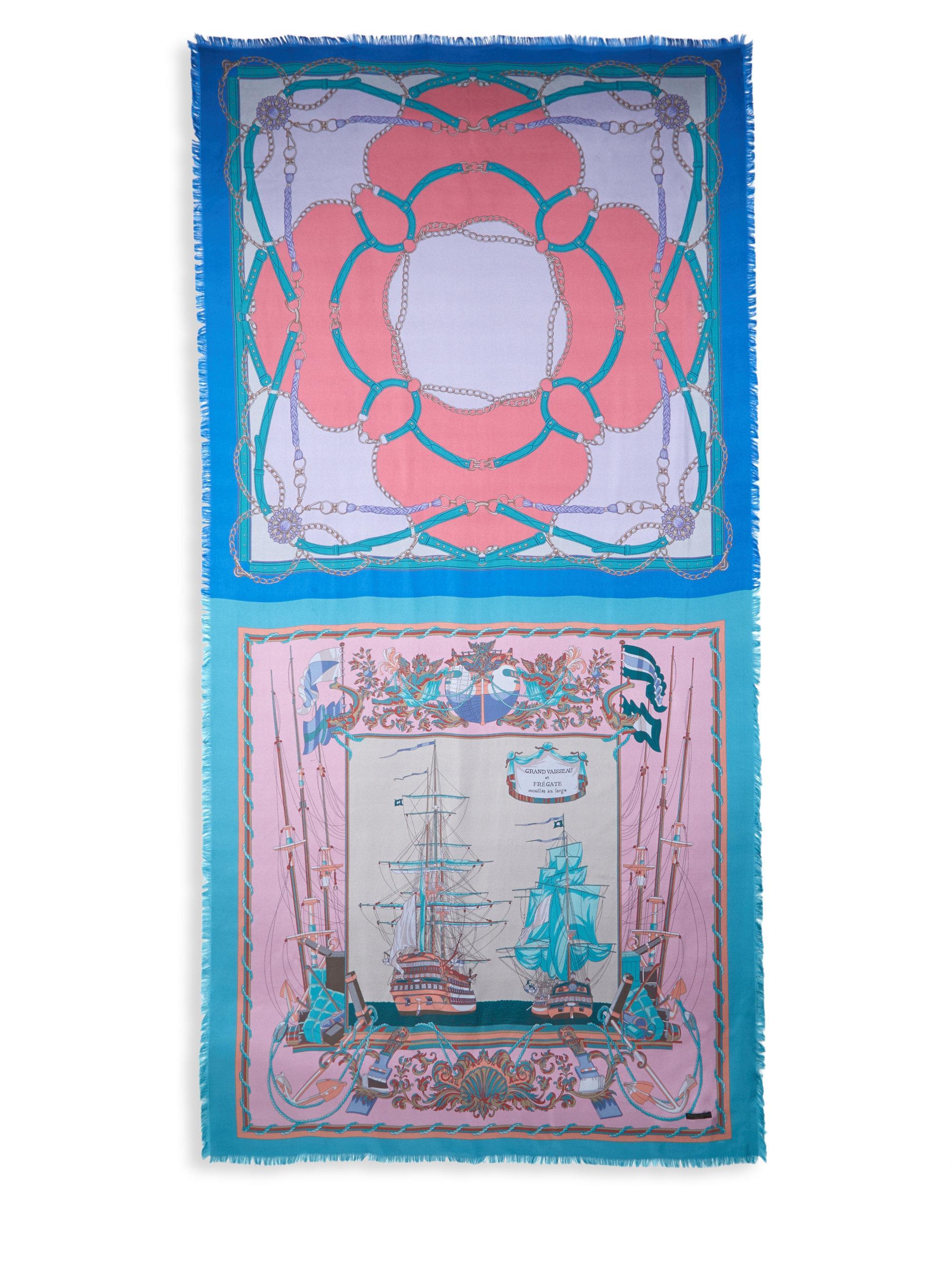 accessories franco wool evans cashmere in glick scarf camo gallery ferrari lyst natural wash