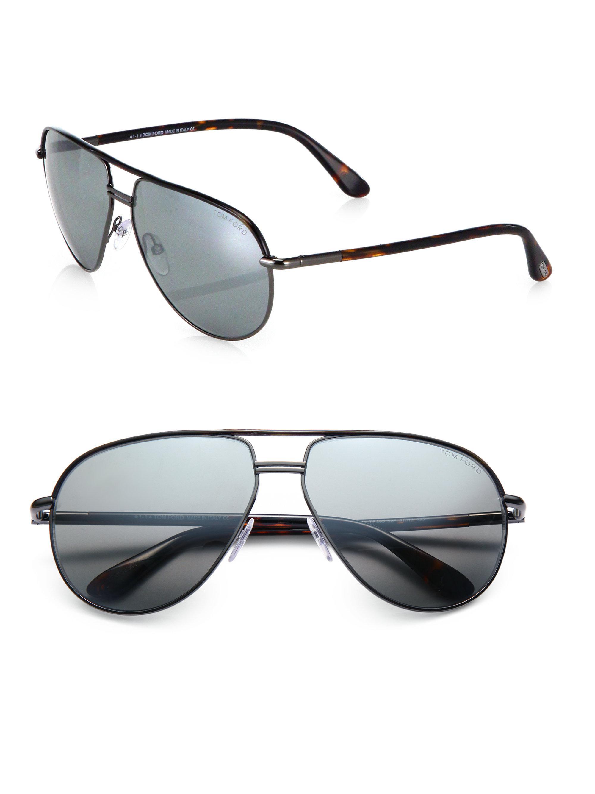 beead3c0c197 Tom Ford Cole Metal Aviator Sunglasses in Metallic for Men - Lyst