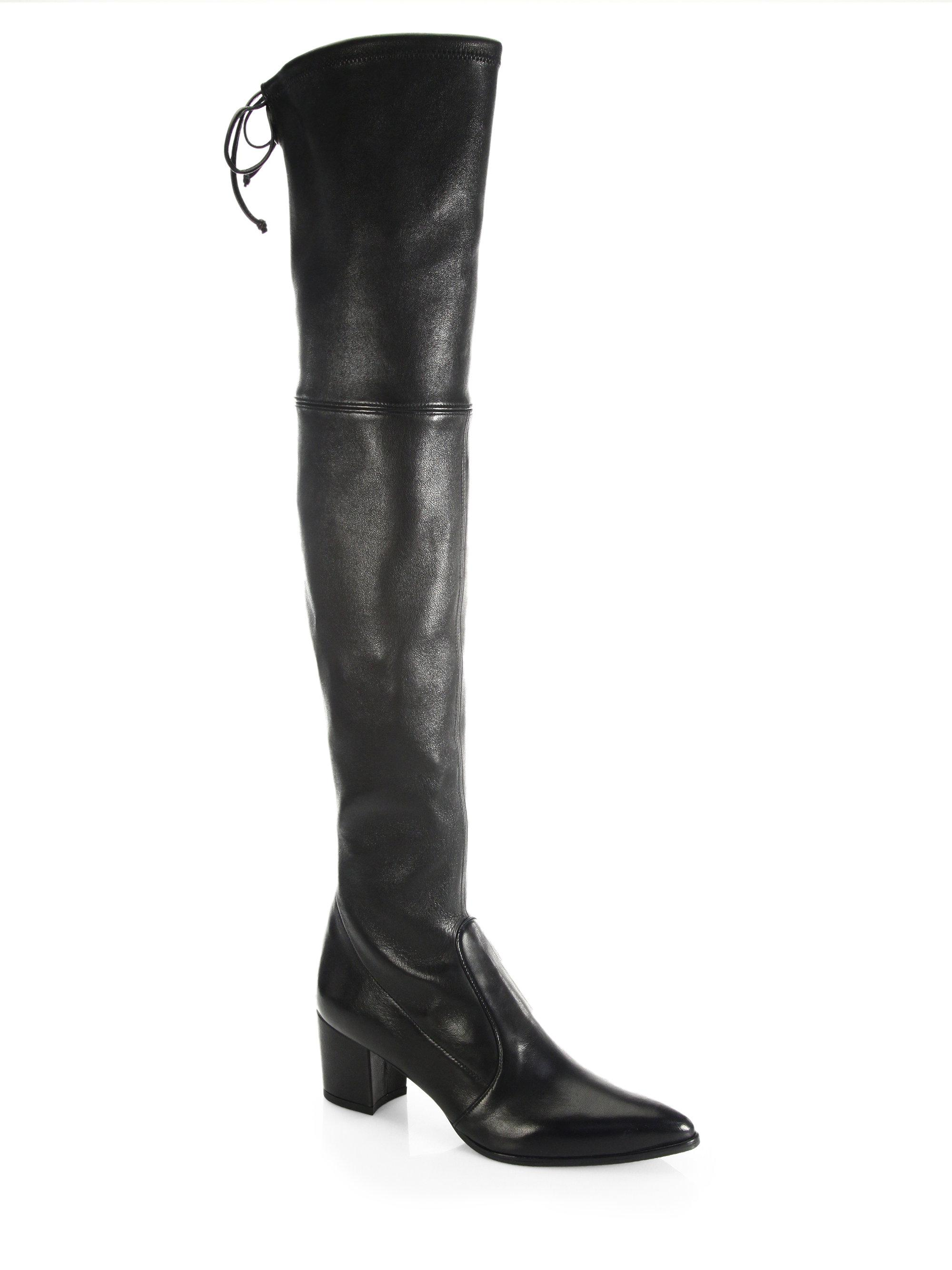 525ac335846 Lyst - Stuart Weitzman Thighland Leather Boots in Black