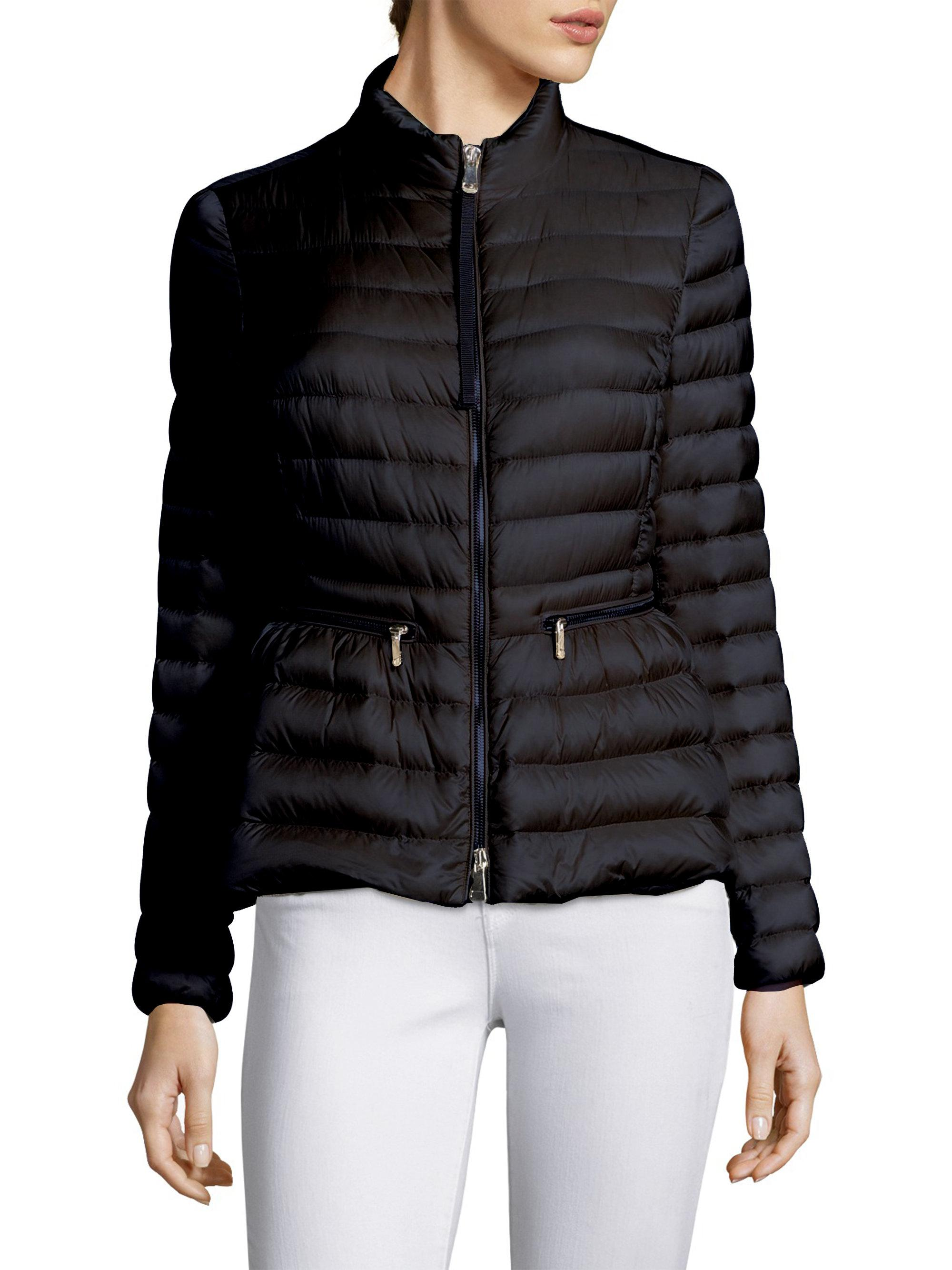 62f15cee3604 Moncler Agate Zip-front Jacket in Blue - Lyst