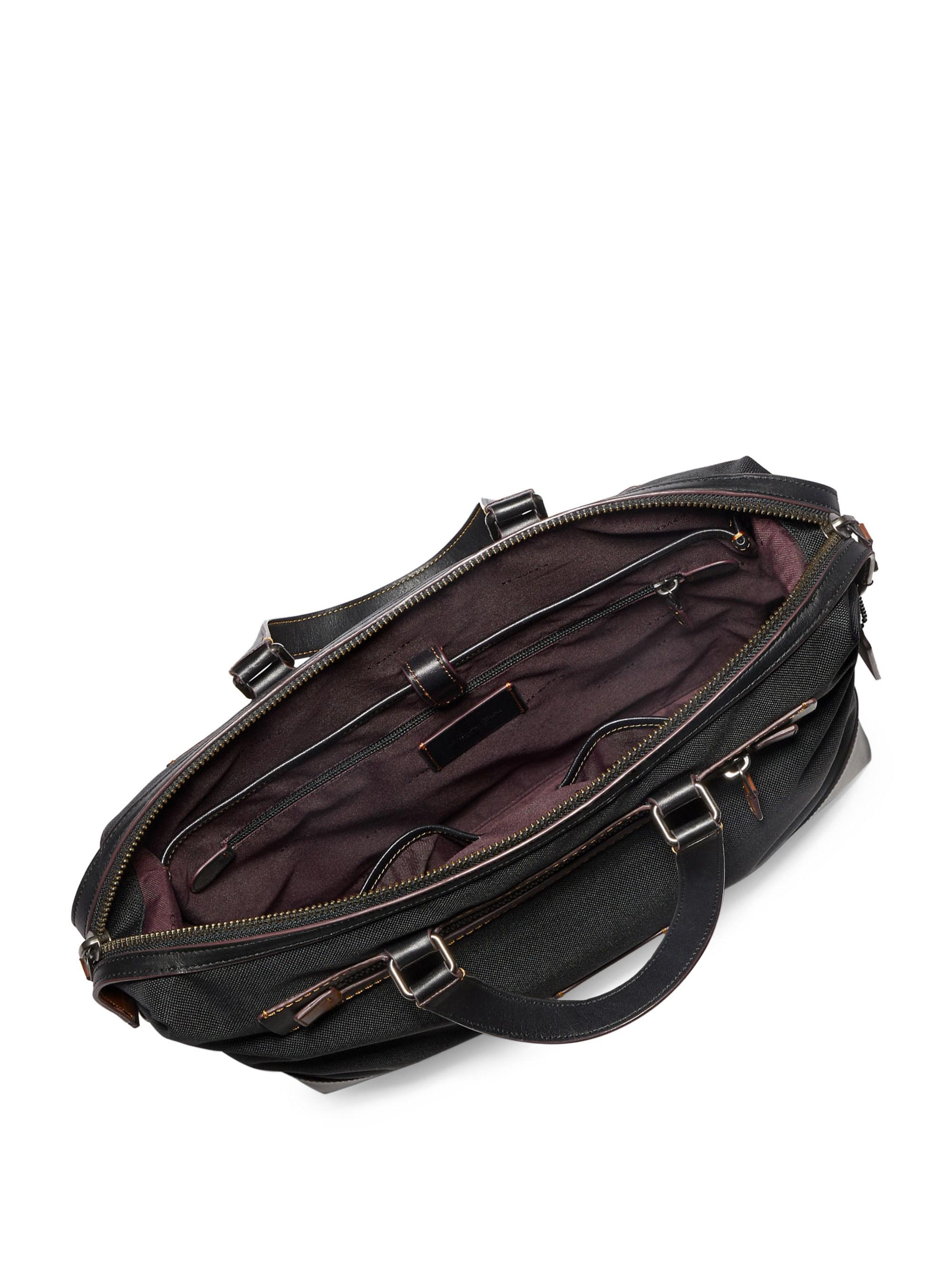 Lyst Men Academy In For Hold Coach Document Bag All Black SqxwzwAR8