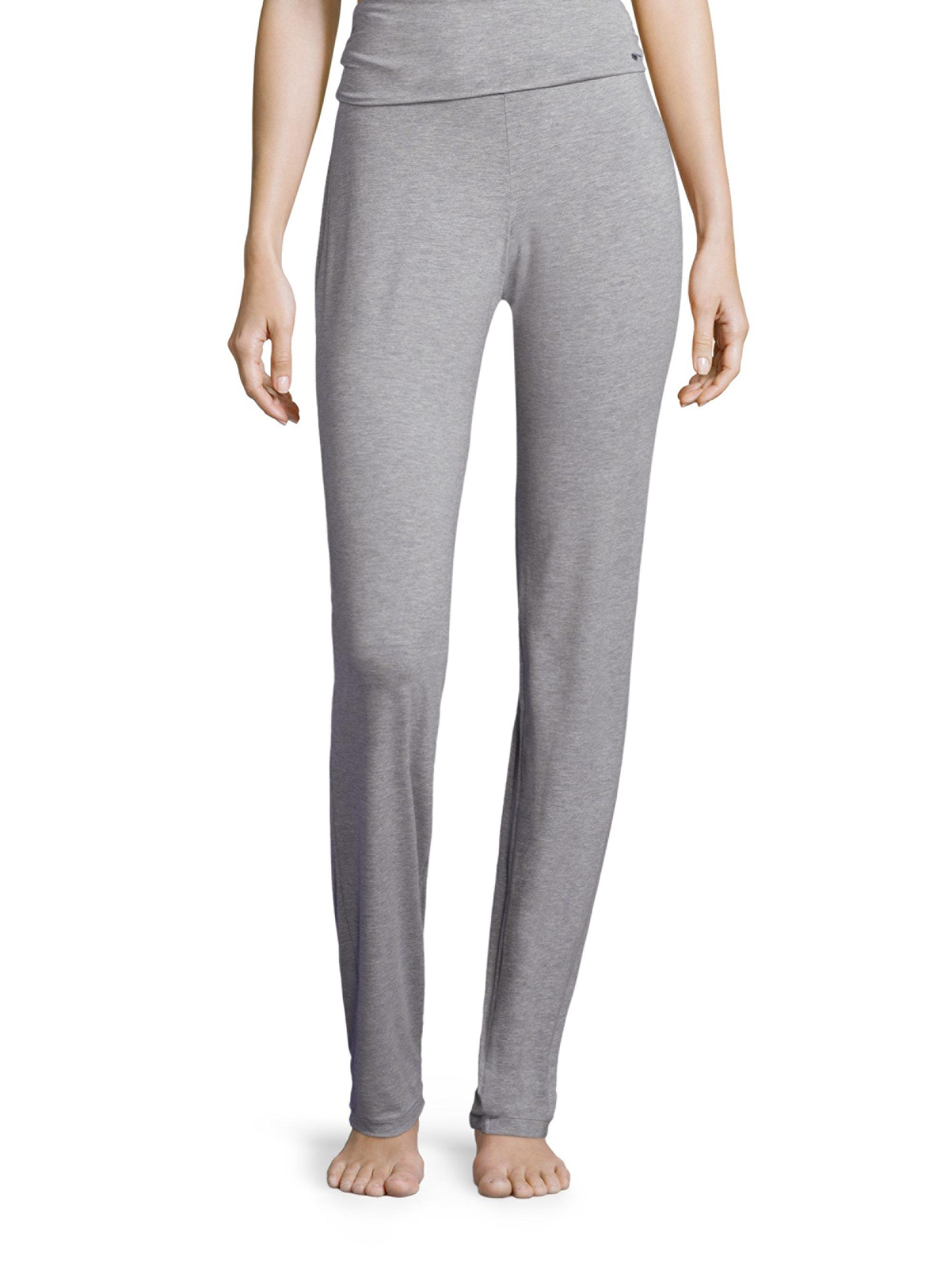 fc4bae2b1d3e3 Hanro Yoga Lounge Pants in Gray - Lyst