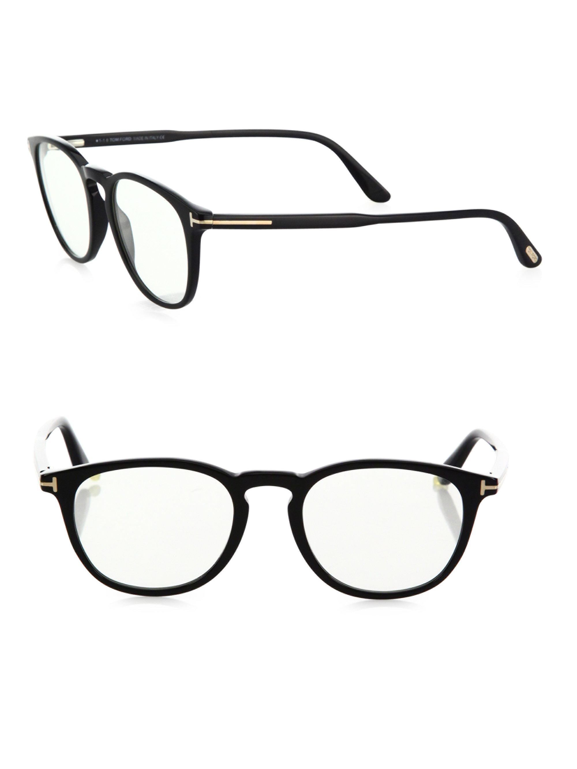 77bfd3559624 Tom Ford 50mm Round Optical Glasses & Clip-on Sunglasses in Blue - Lyst