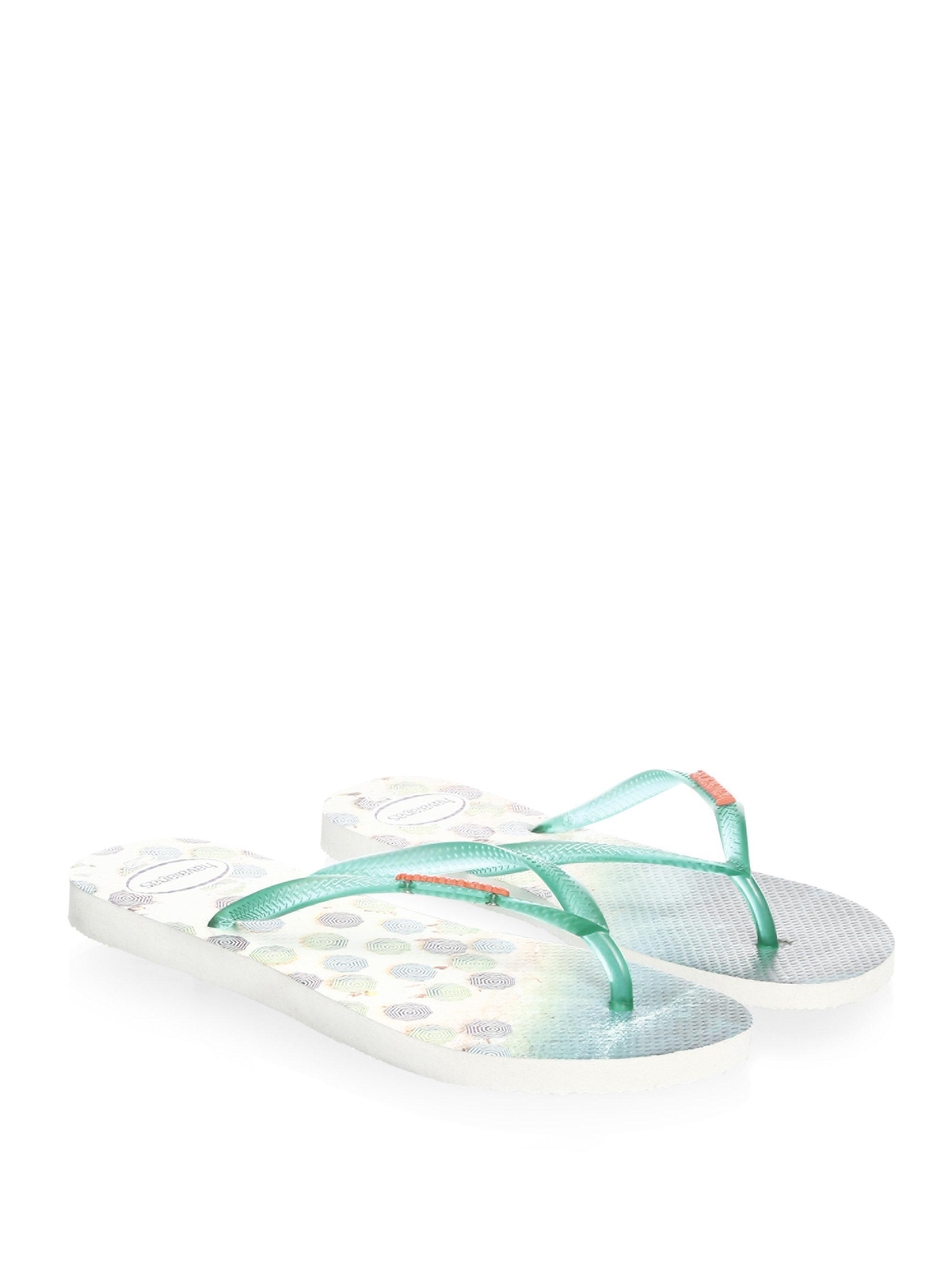 Havaianas Tropical Slim Paisage Flip Flops jozJP