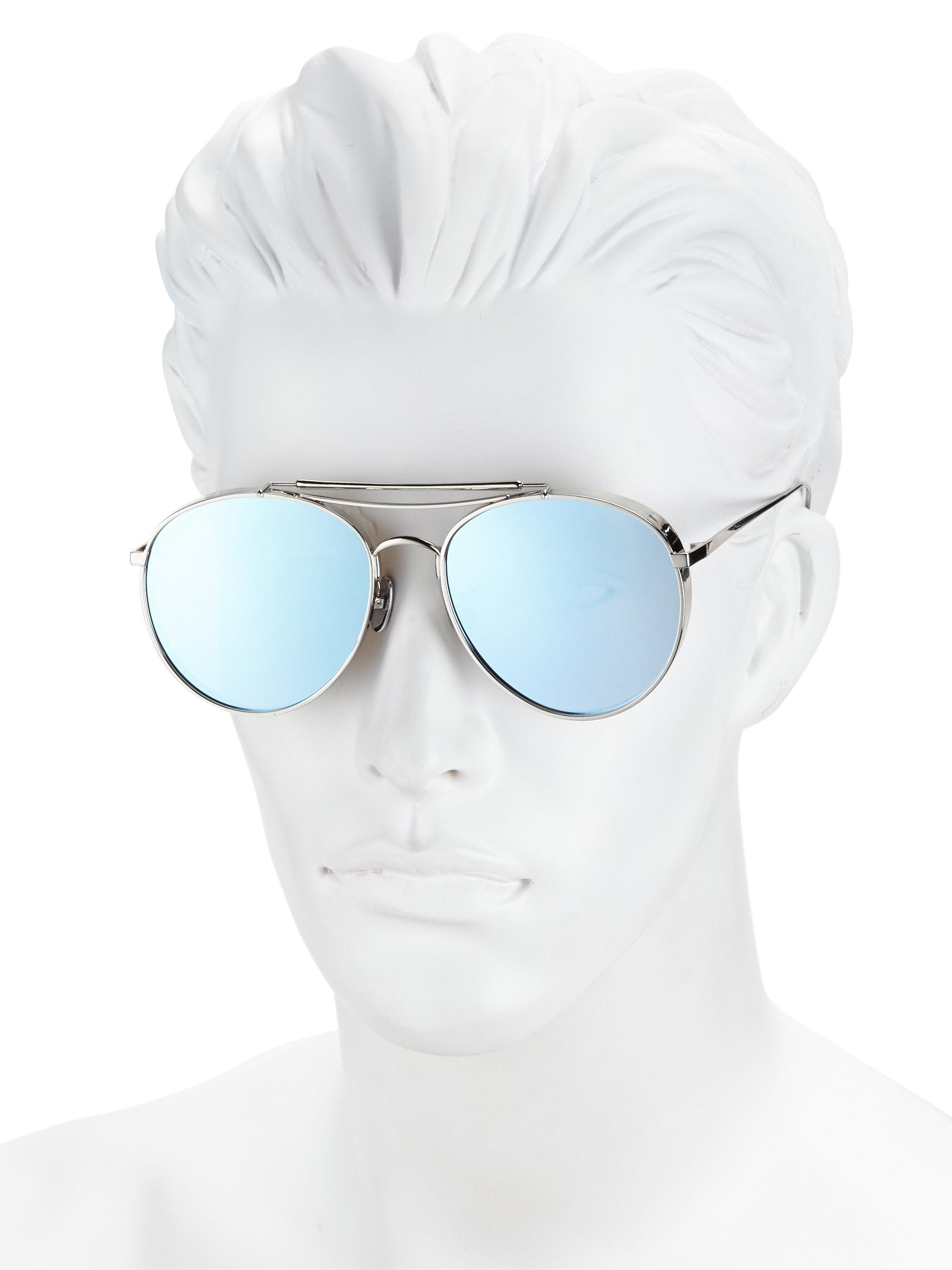 5b53b1c5a2a Lyst - Gentle Monster Big Bully Aviator Sunglasses in Blue for Men