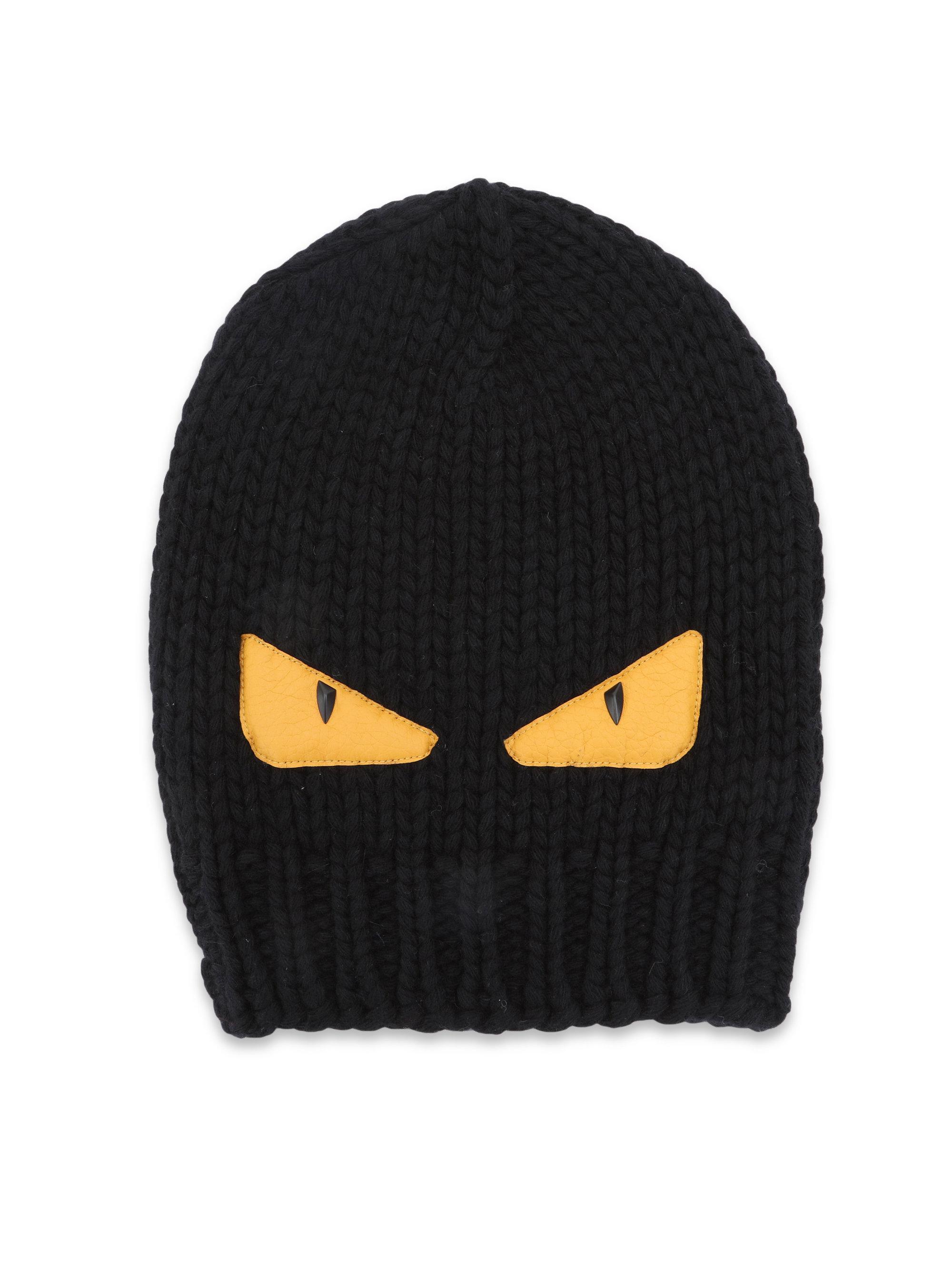 0fffd4b34d0 Lyst - Fendi Monster Wool Hat in Black for Men