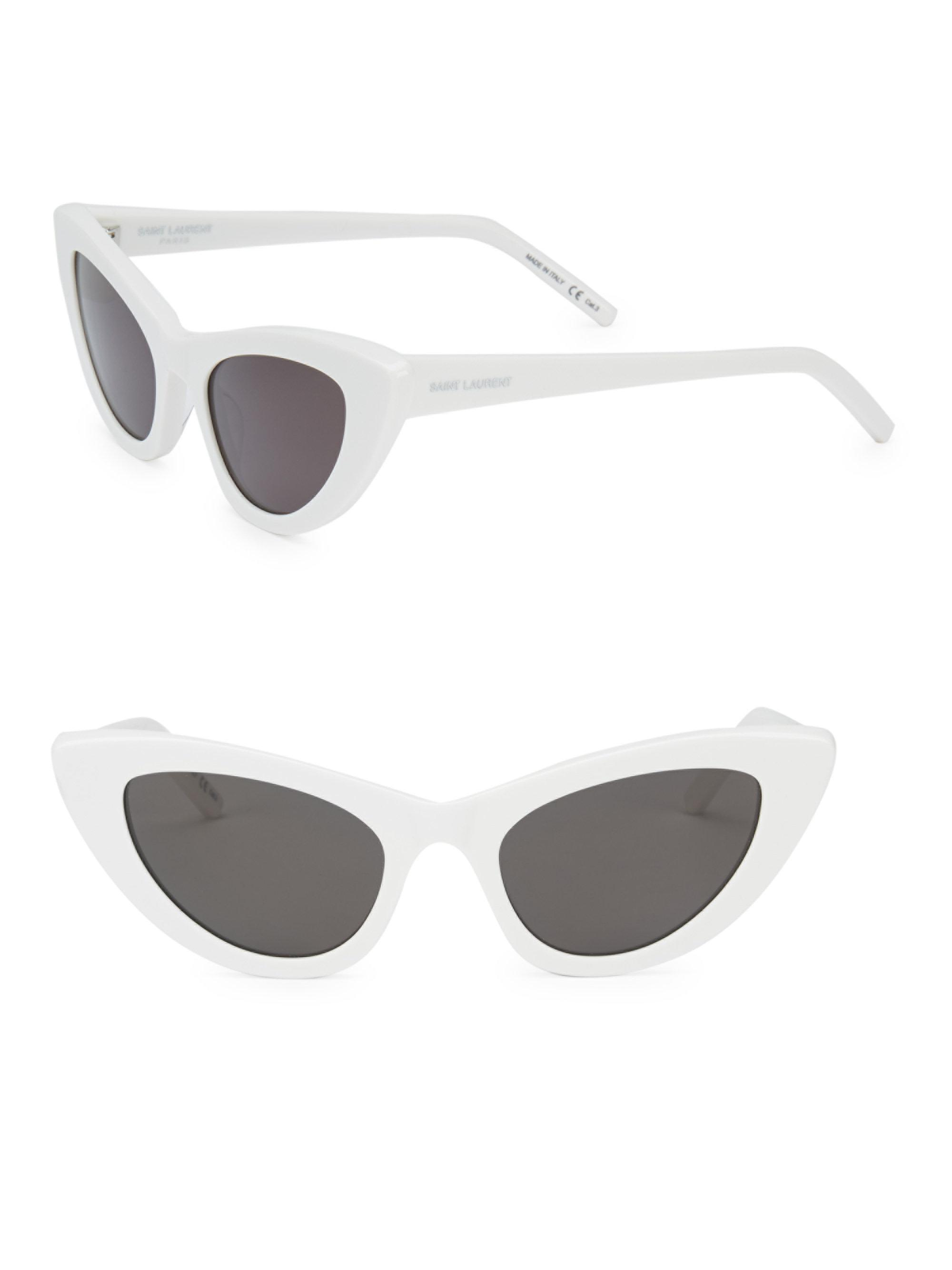 233ed0430f Saint Laurent New Wave 213 Lily Sunglasses 52mm in White - Lyst