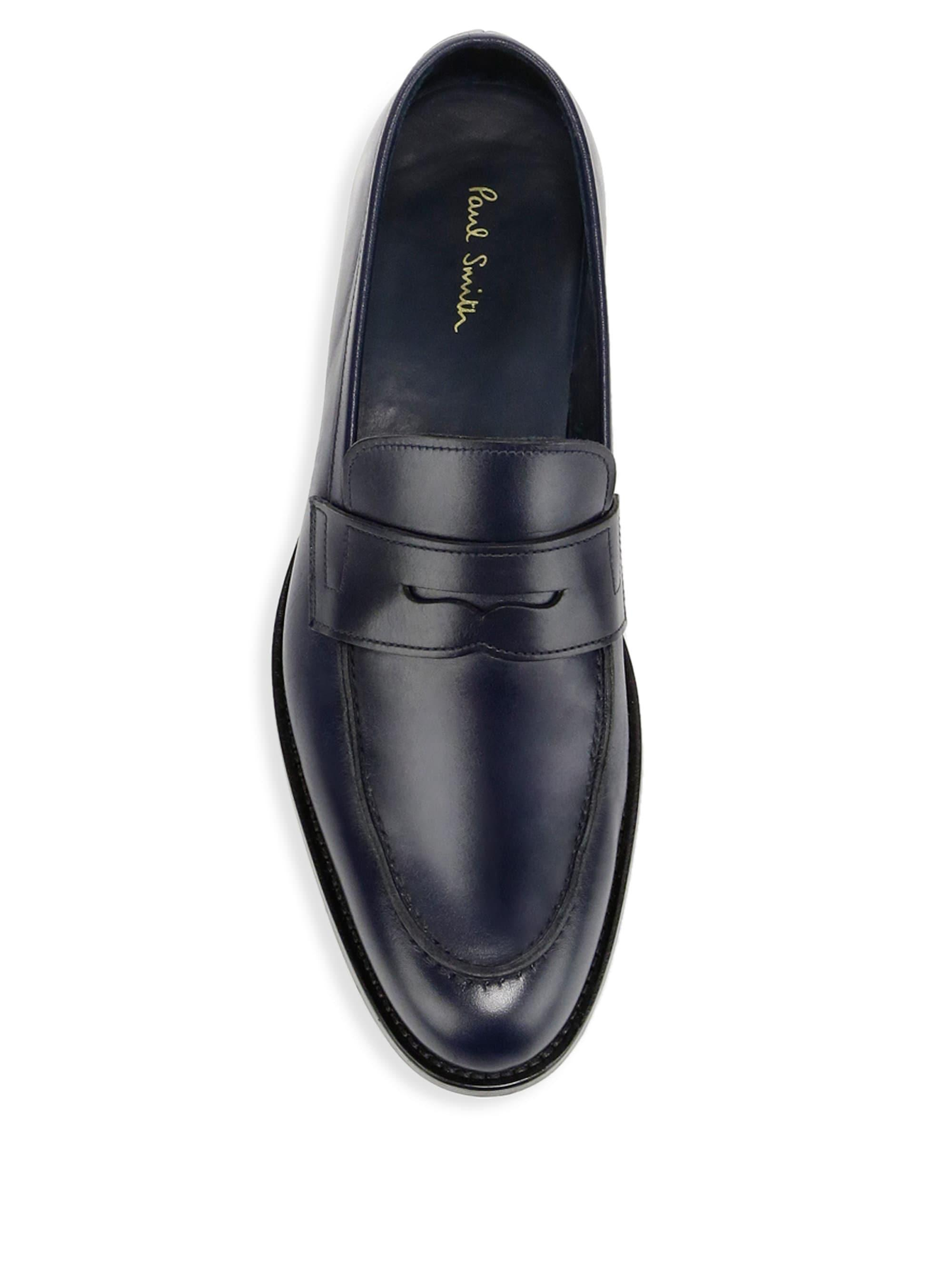 43e9fa84e85 Paul Smith Leather Penny Loafers in Blue for Men - Lyst
