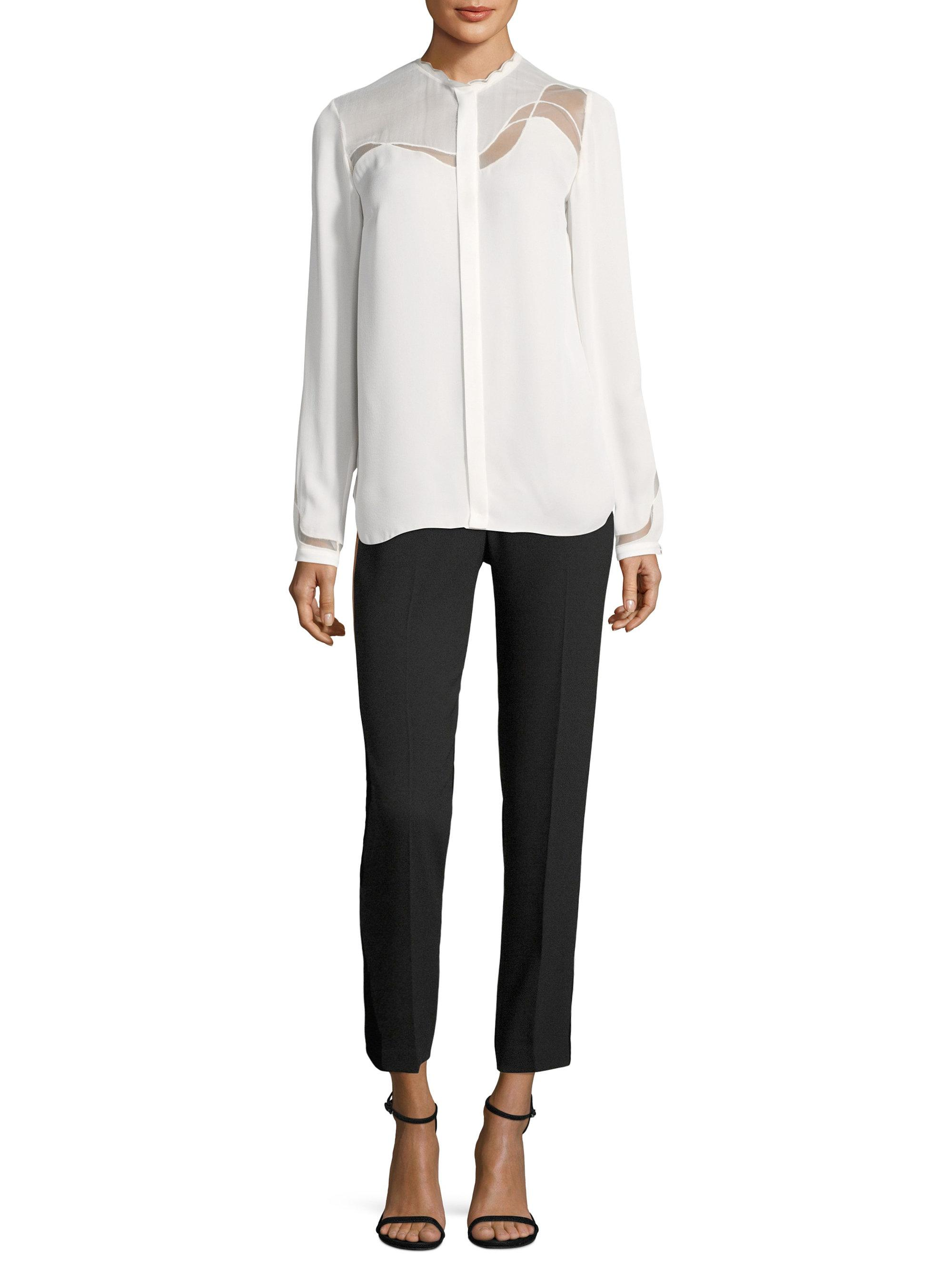 a3fd50ac07f049 Lyst - Elie Tahari Justina Blouse in White