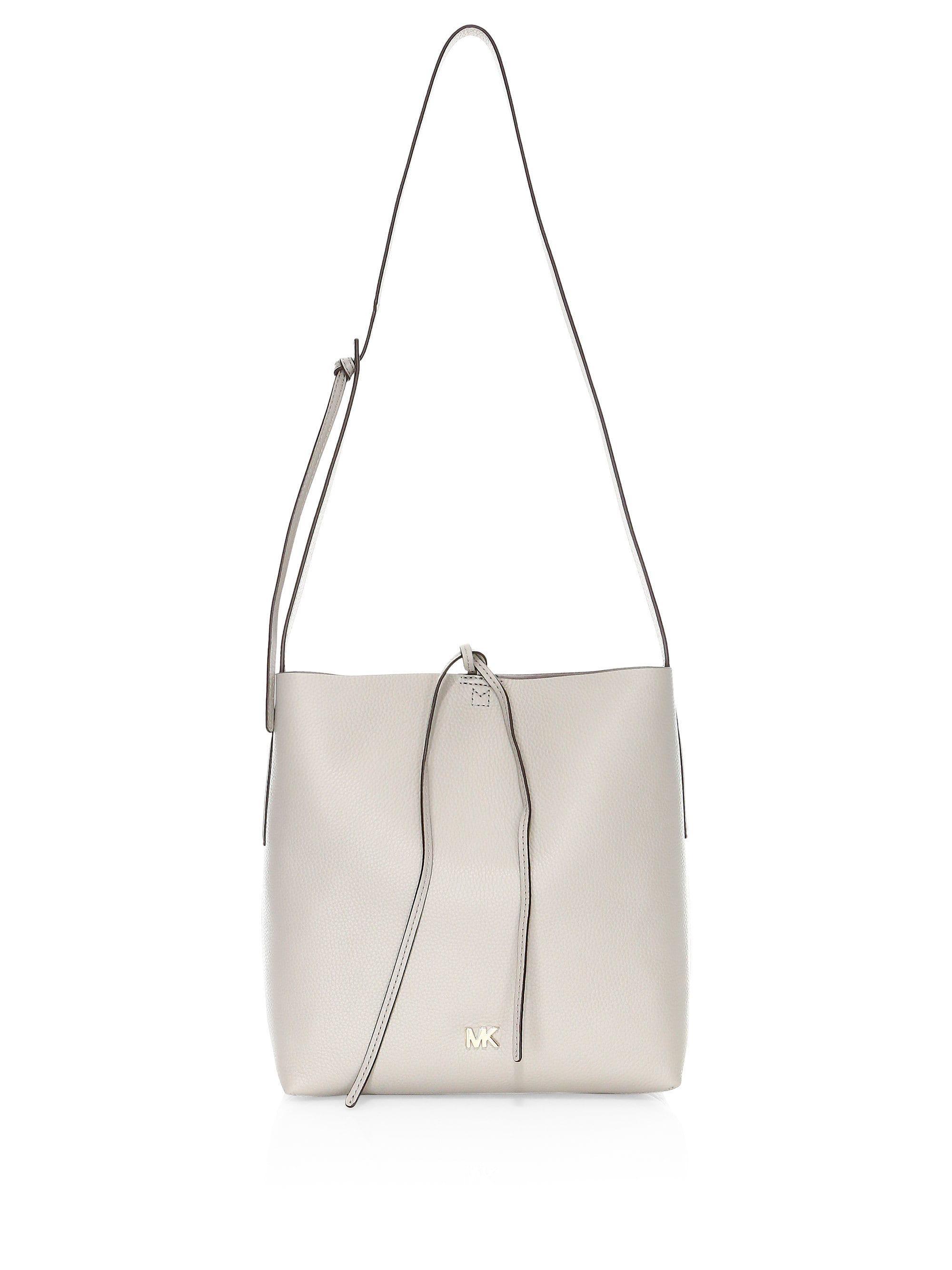 de74716dc174 MICHAEL Michael Kors. Women s Gray Large Junie Pebbled Leather Messenger Bag