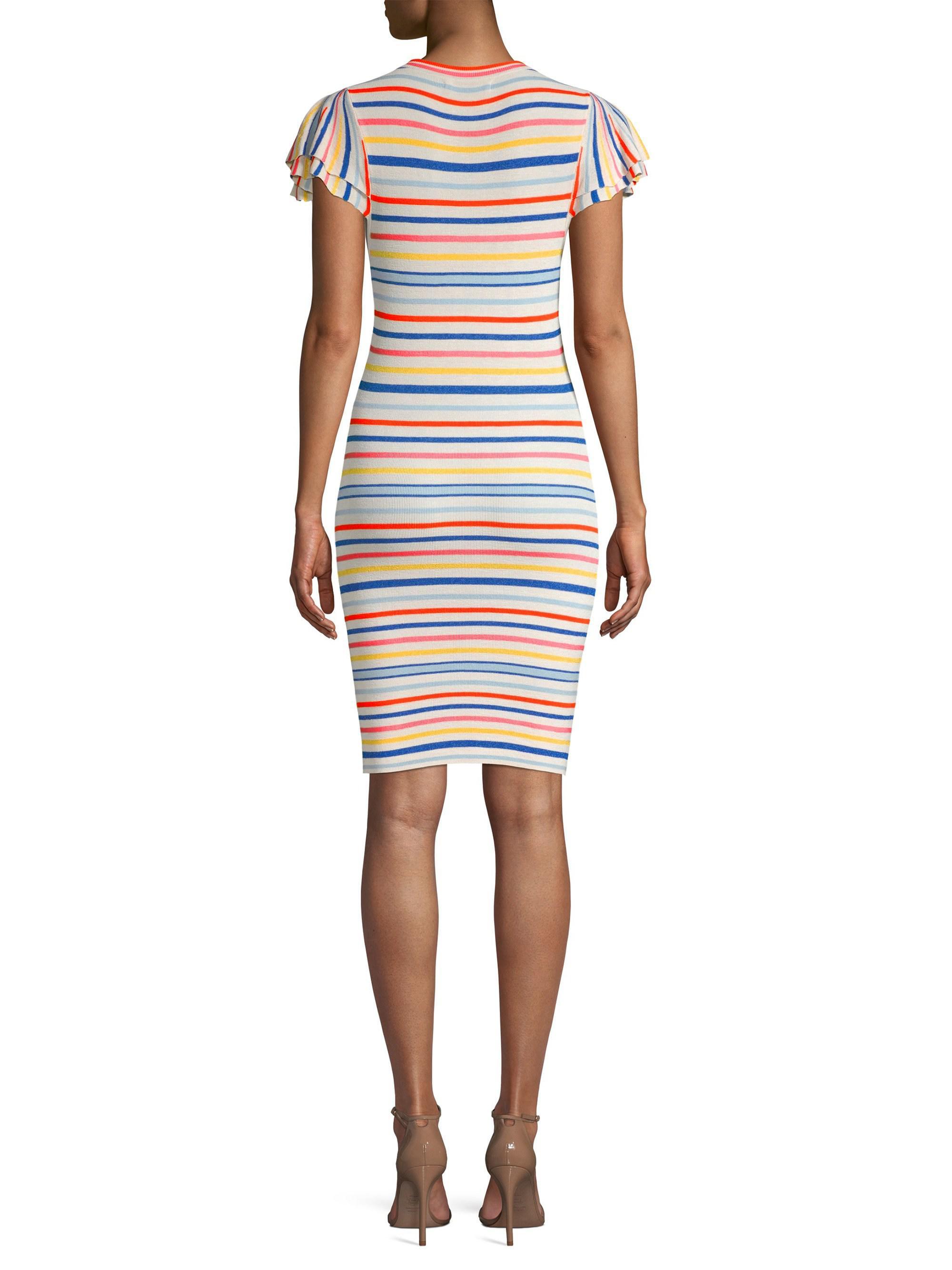 5f605fbee92 Lyst - Alice + Olivia Kellin Striped Tee Dress