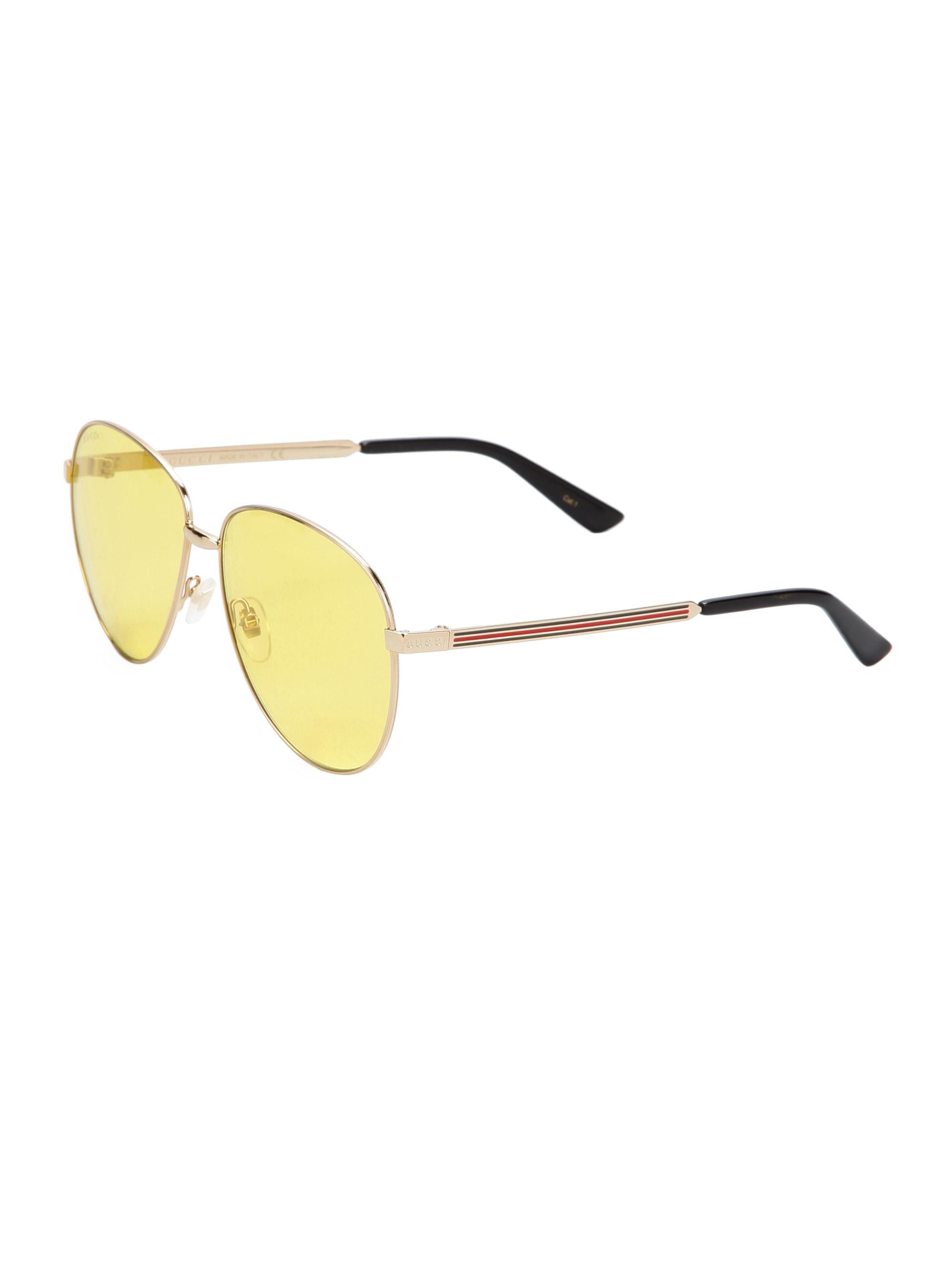 de64cb4b99b7e Gucci - Metallic Men s 61mm Metal Sunglasses - Gold for Men - Lyst. View  fullscreen