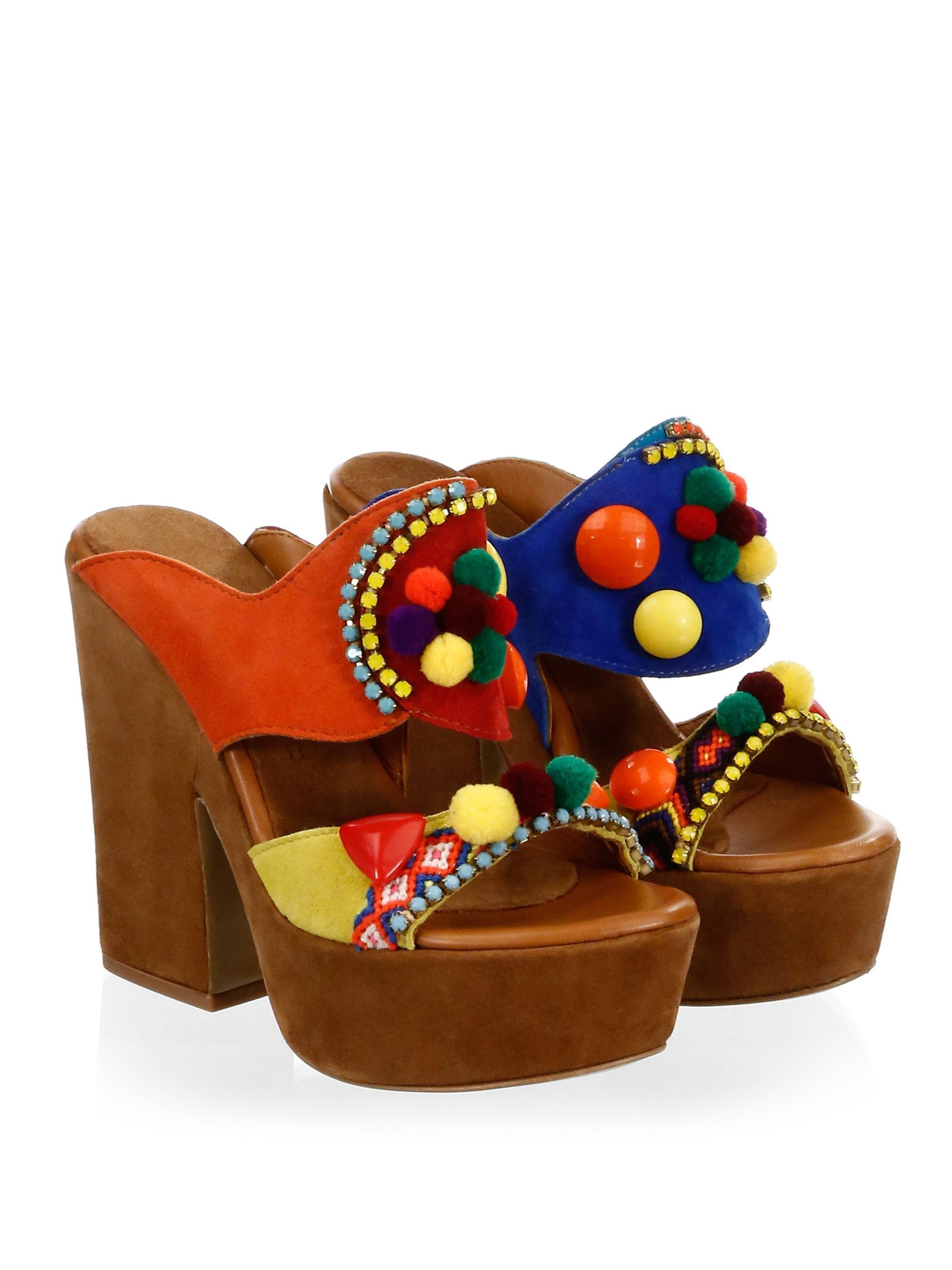 Elina Linardaki La Fiesta Suede Platform Sandals ghv2eD