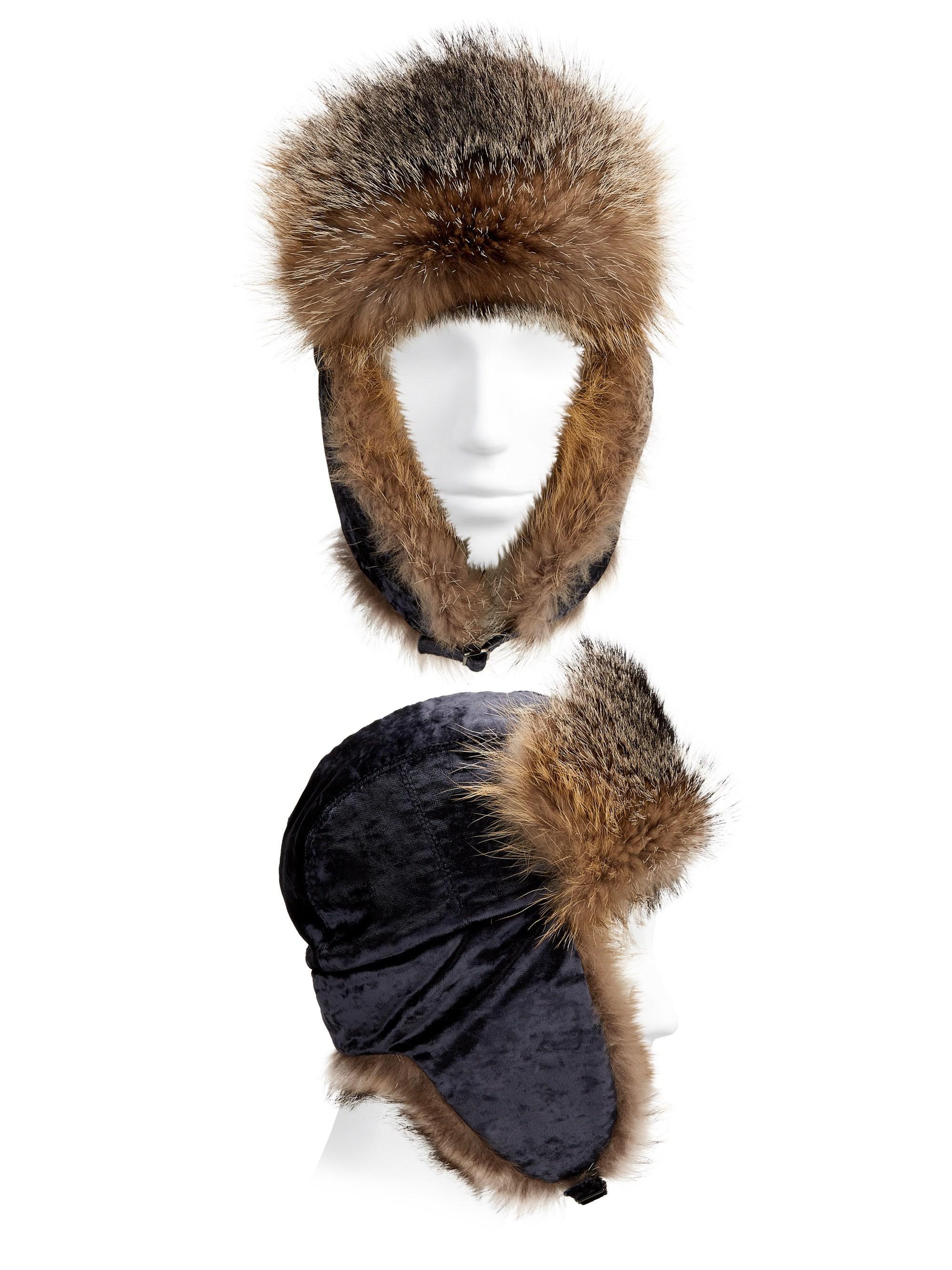 853d32c460d Lyst - Brunello Cucinelli Velvet Fox Fur Trapper Hat