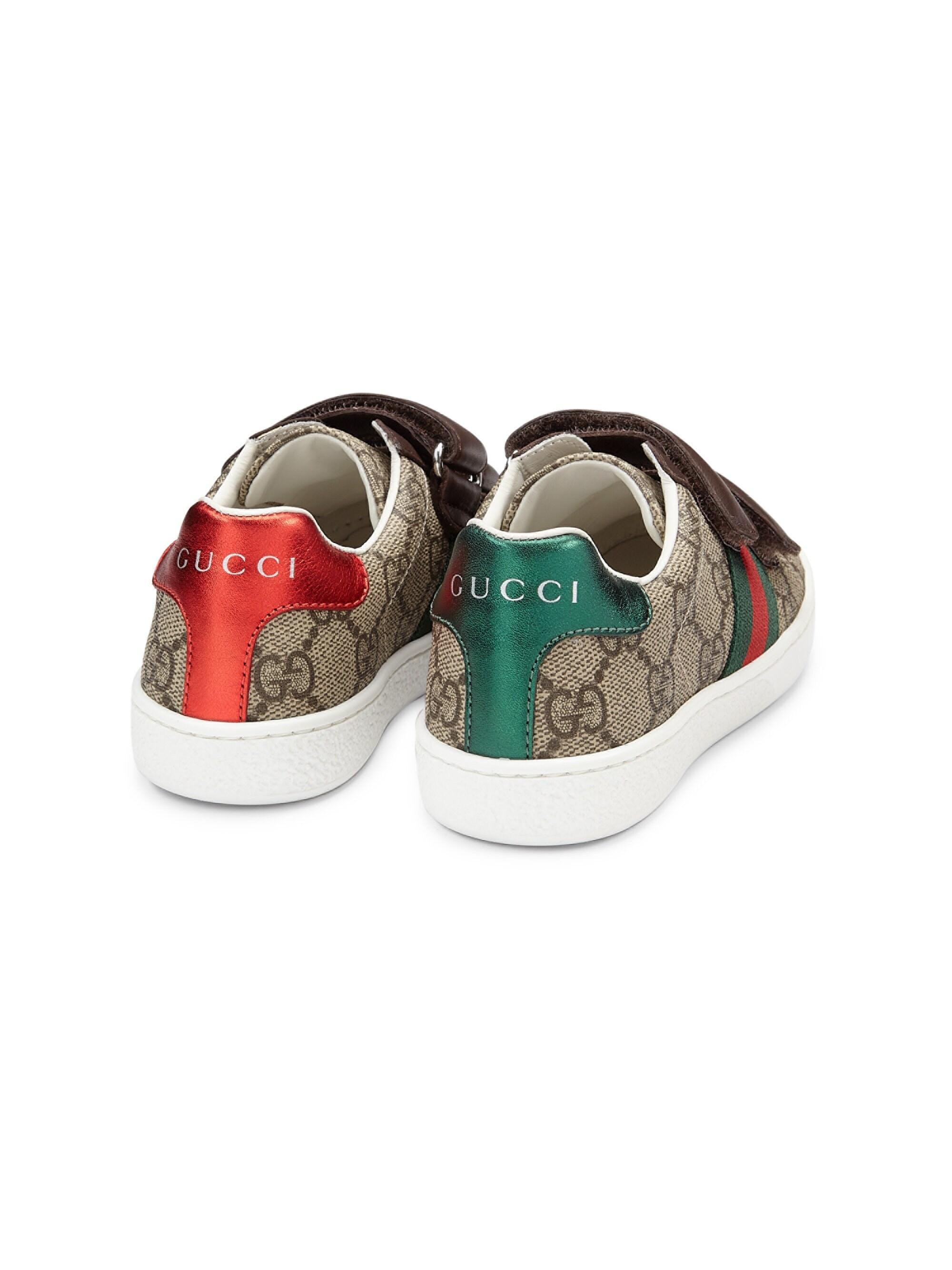 7078e6ceb98 Gucci - Multicolor Kid s GG Supreme Canvas Strap Shoes - Lyst. View  fullscreen