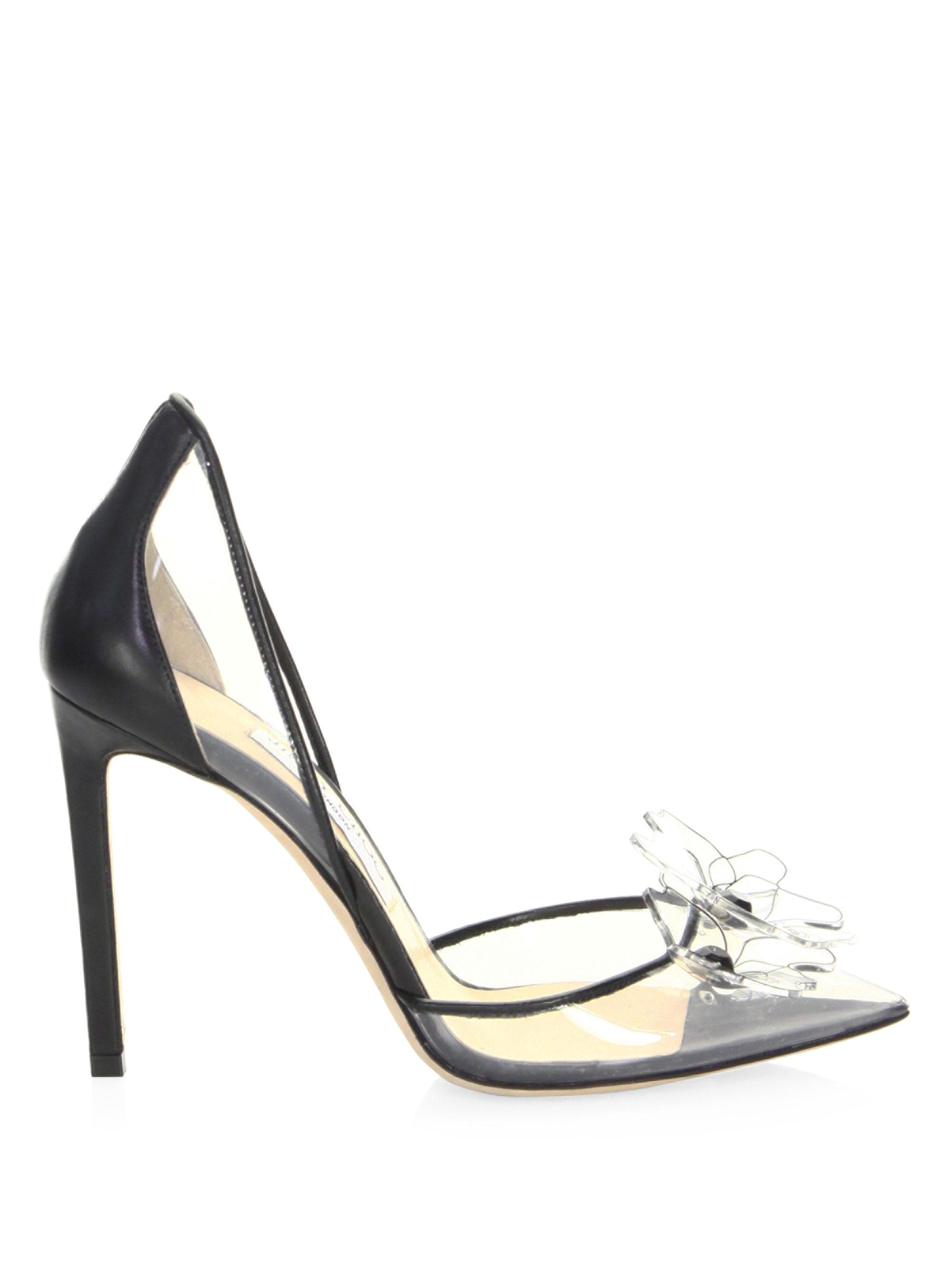 Levina 65 Embellished Pvc And Leather Pumps - Black Jimmy Choo London