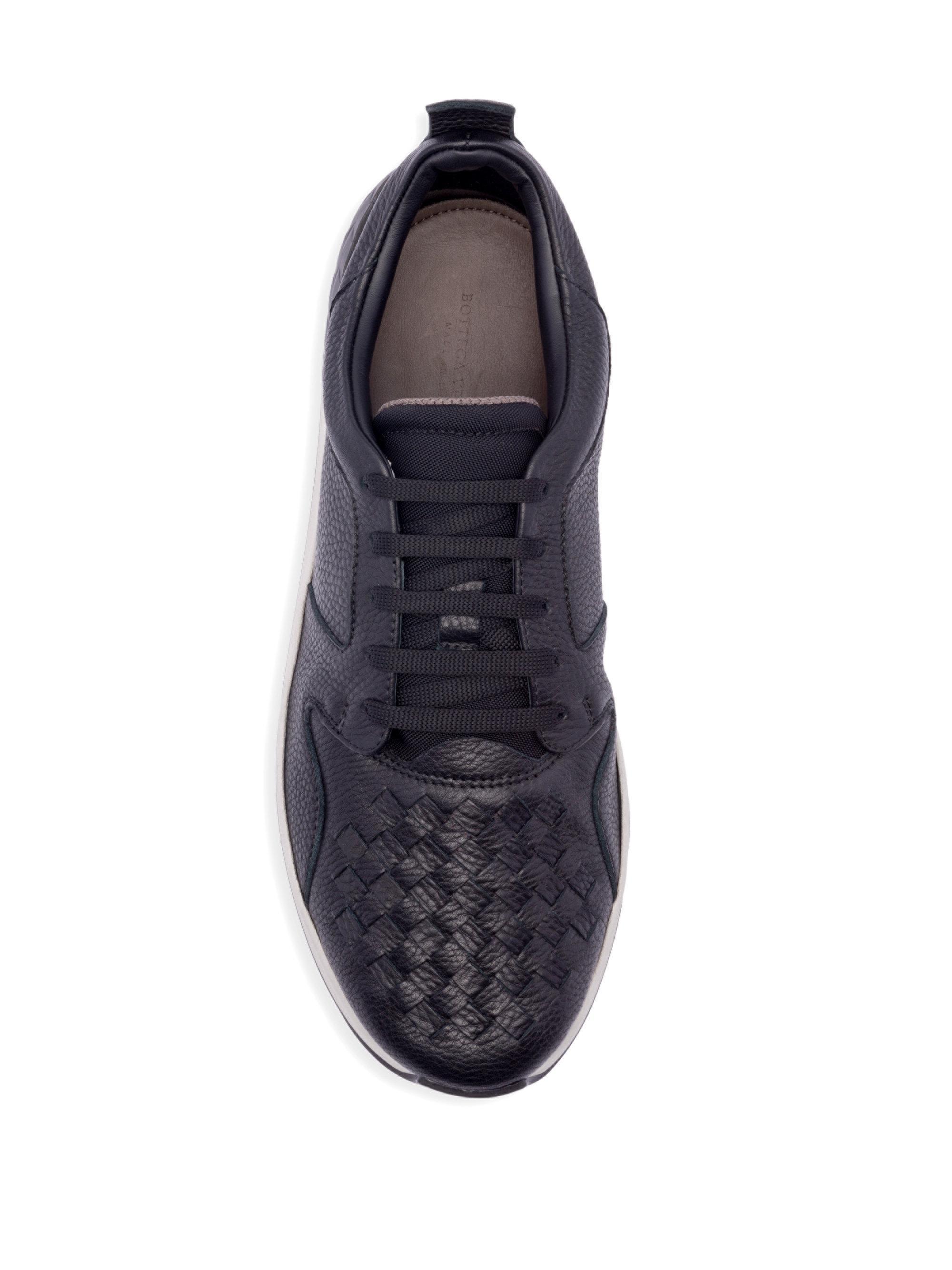 Bottega VenetaInterwoven Leather Low-Top Sneakers gXcVU4aF