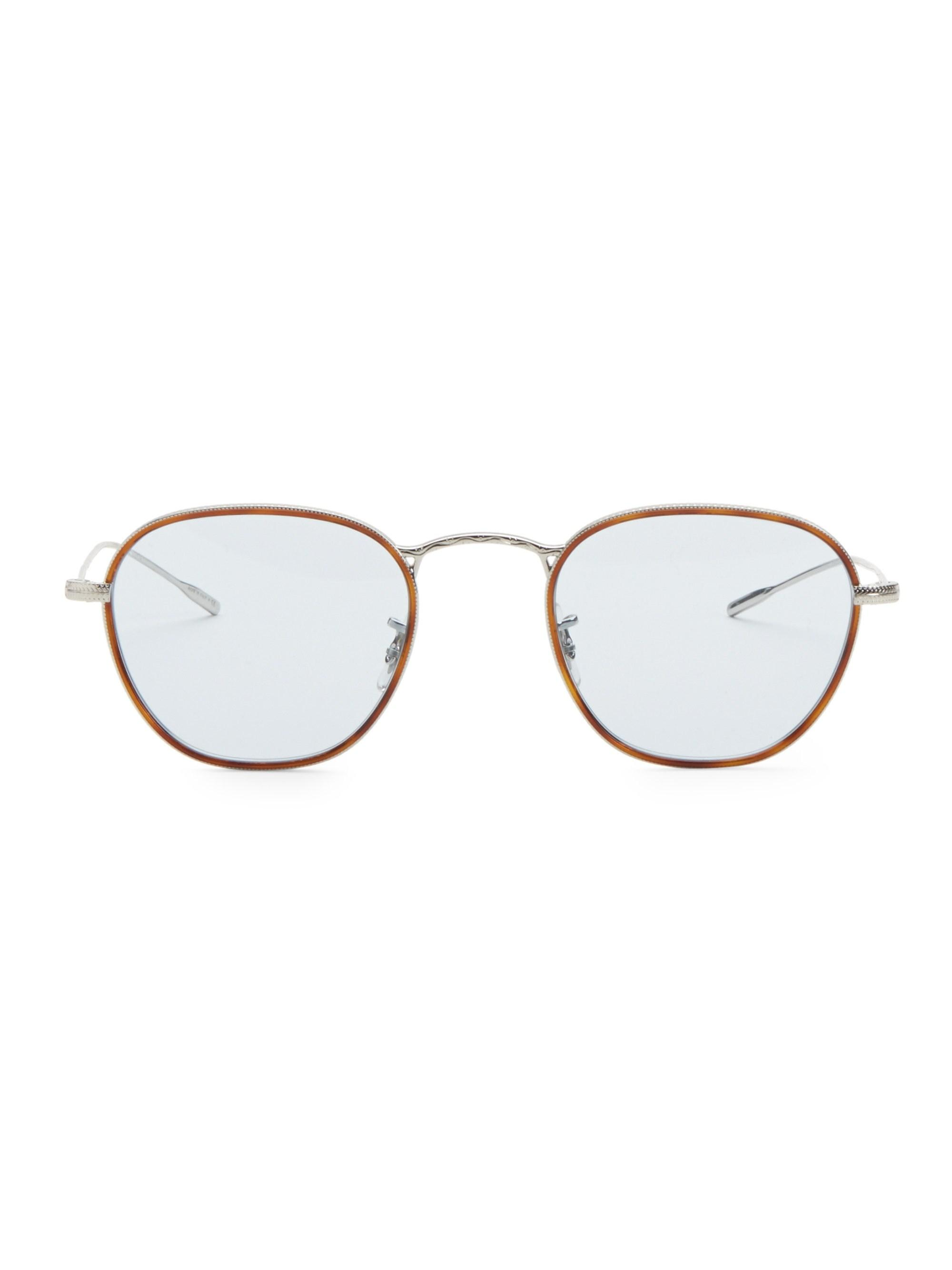 3b108f090680 Lyst - Oliver Peoples Eoin 48mm Optical Glasses in Metallic for Men