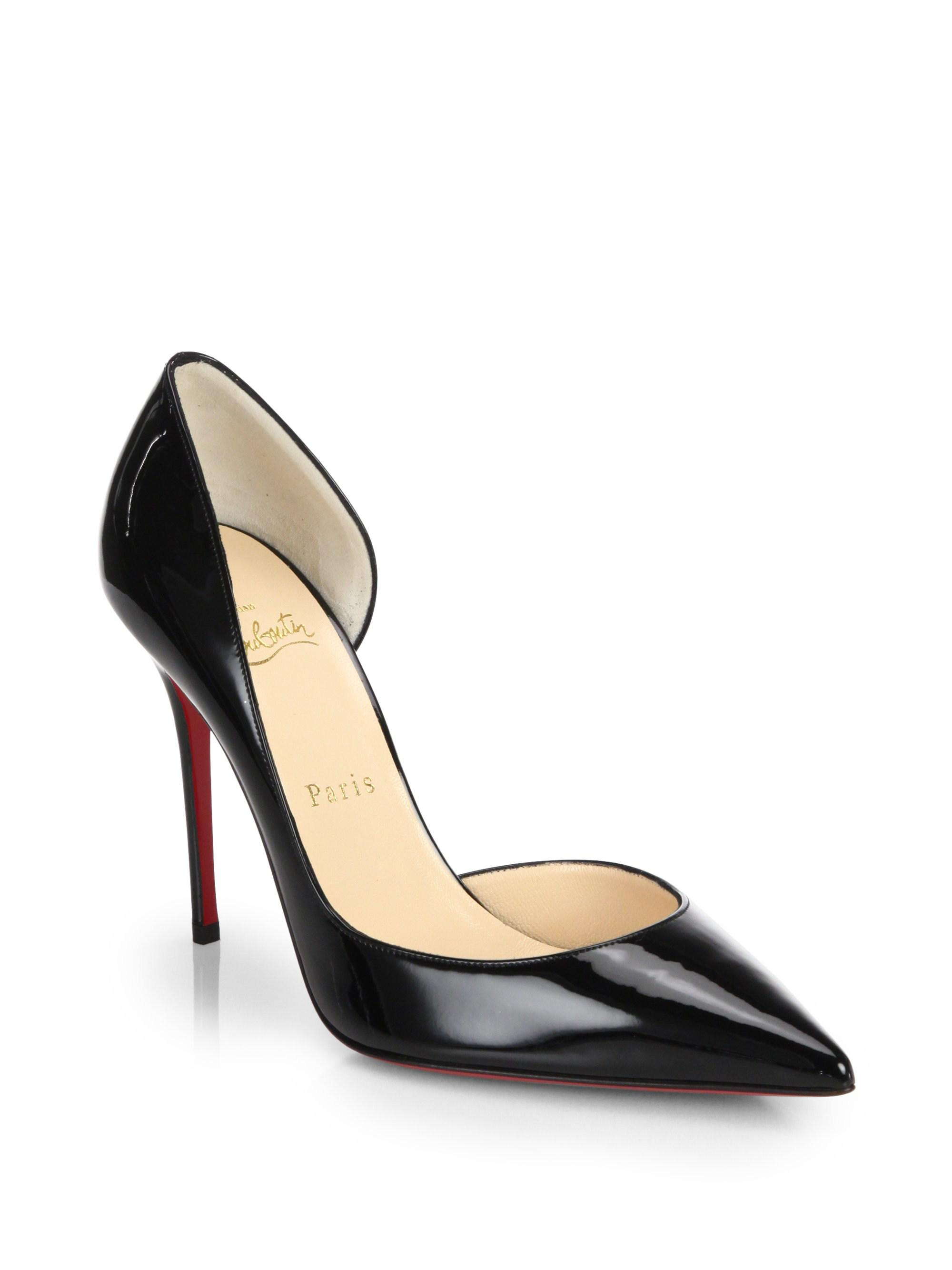 5eec9115f45f Christian Louboutin Iriza 100 Patent Leather Half D orsay Pumps in ...