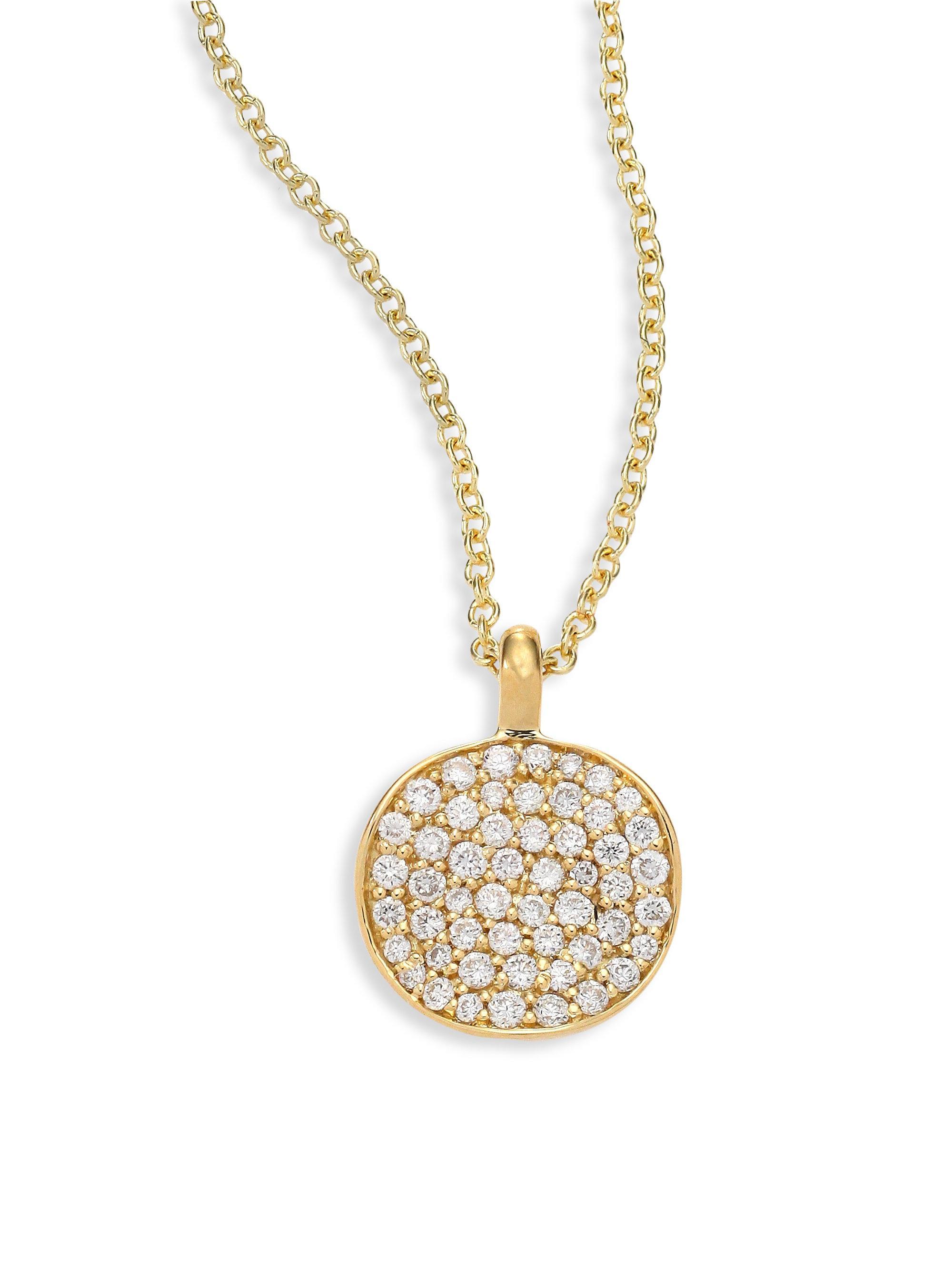 Lyst ippolita stardust diamond 18k yellow gold disc pendant ippolita womens metallic stardust diamond 18k yellow gold disc pendant necklace aloadofball Choice Image
