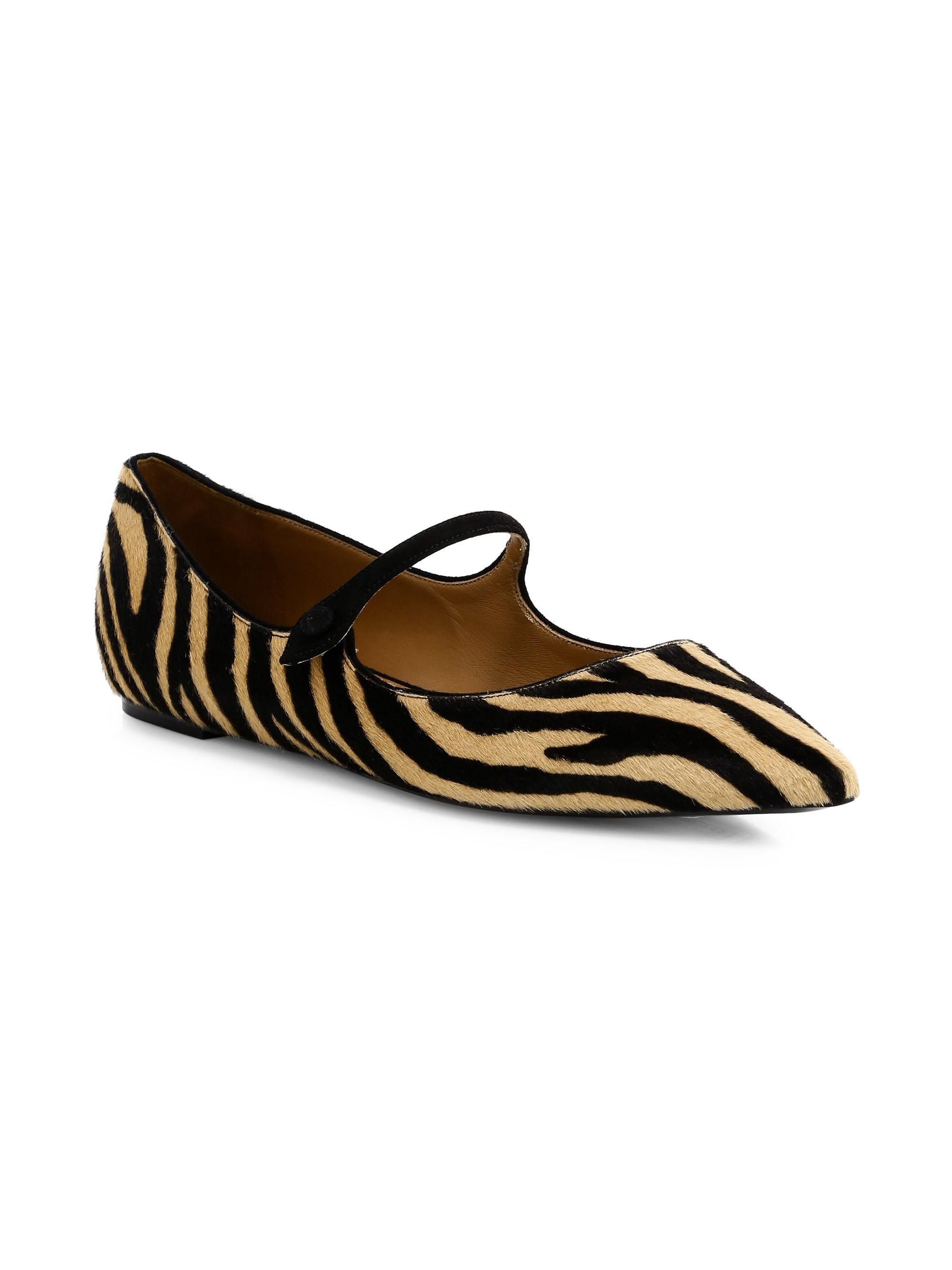 411078531e28e Lyst - Tabitha Simmons Women's Hermione Zebra Print Calf Hair ...